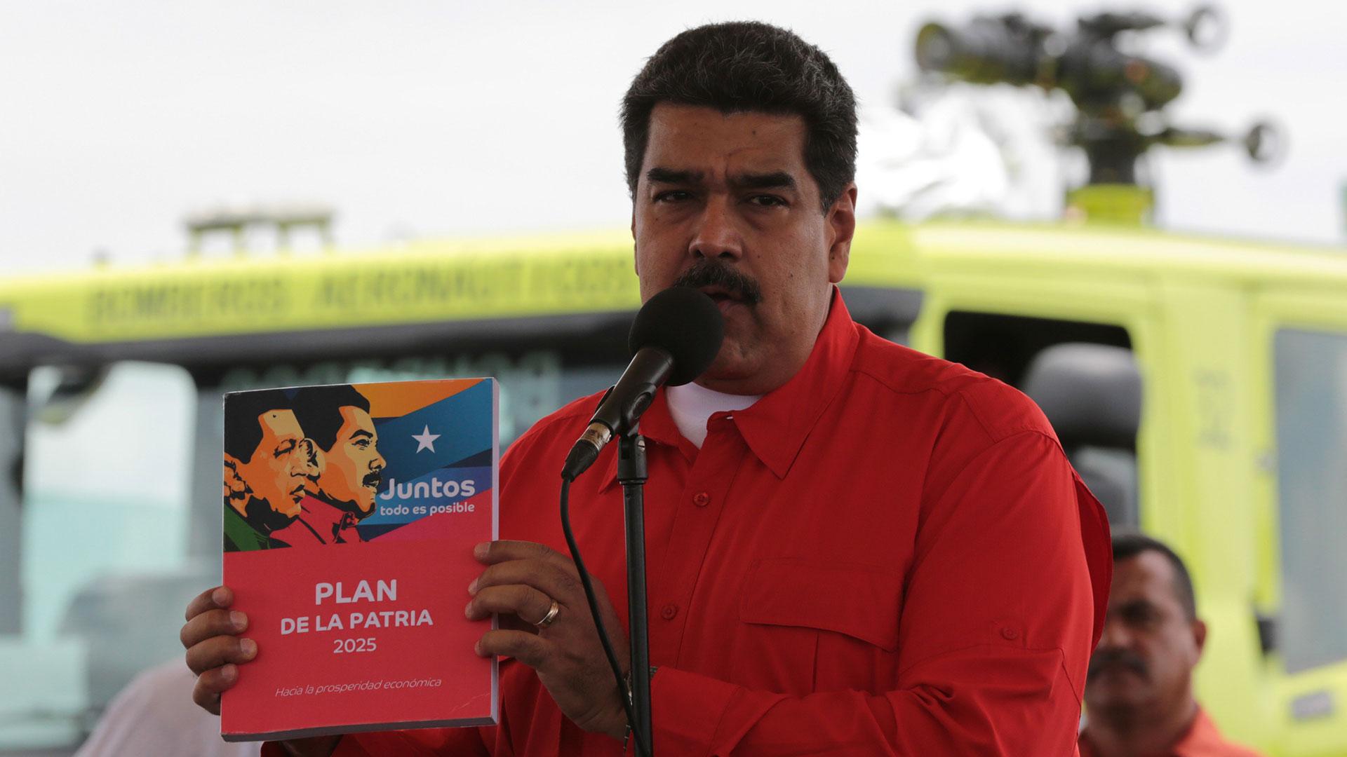 Nicolás Maduro durante un acto de campaña (EFE)