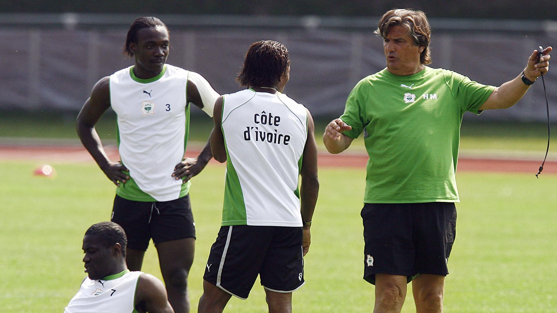 Henri Michel dirigió a la selección de Costa de Marfil en el Mundial 2006 (AFP)