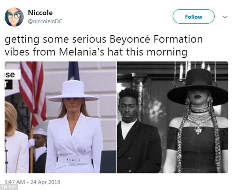 Melania vs Beyoncé, el total white de la primera dama vs el total black de Queen B