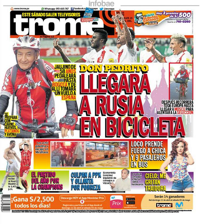 Trome Perú Miércoles 25 De Abril De 2018 Noticias De Catamarca