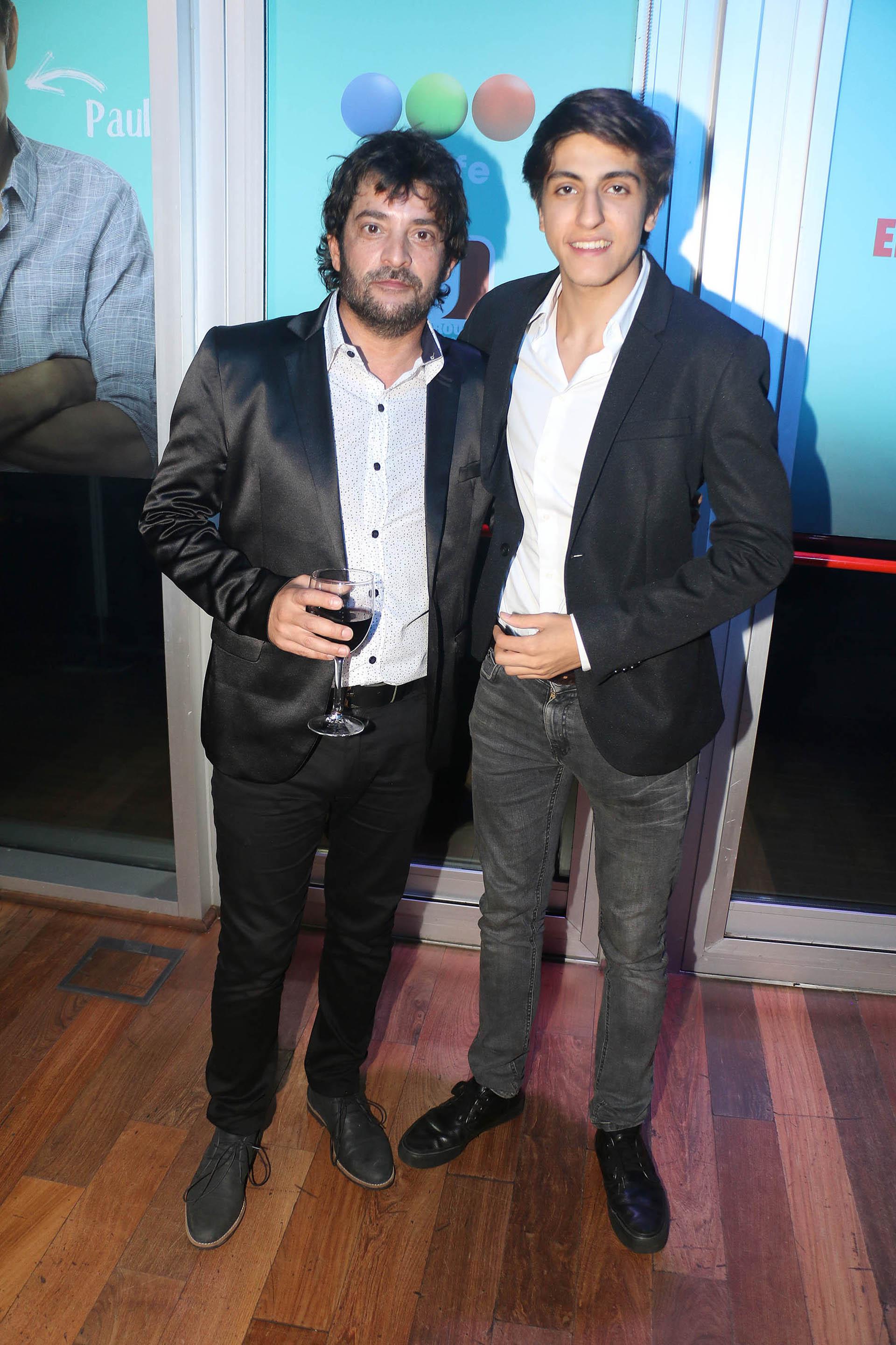 Pablo Rago y el hijo de Carlín Calvo