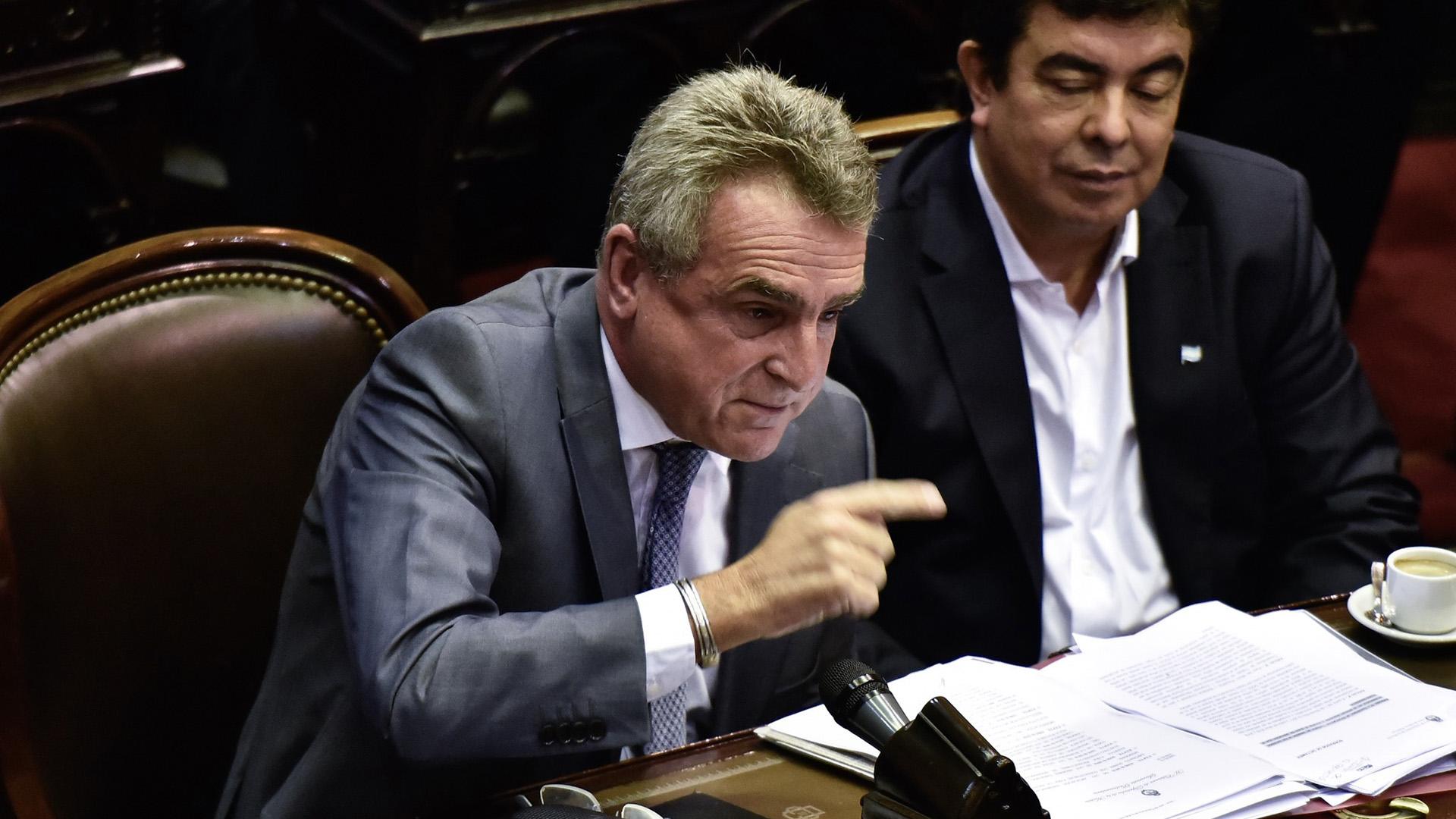 Agustín Rossi, presidente del bloque de legisladores del kirchnerismo