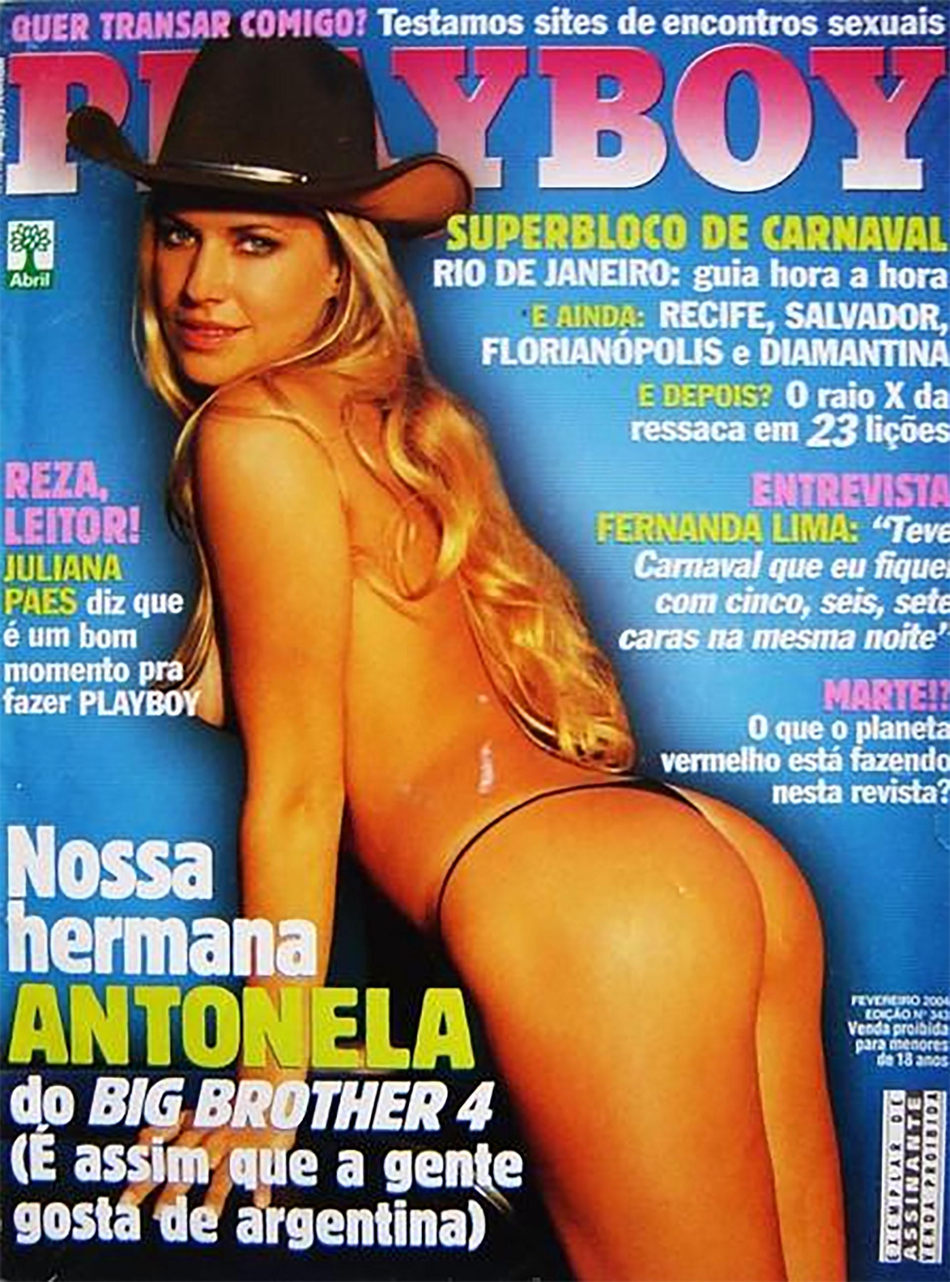 Antonela fue tapa de Playboy, tras su paso por el reality Big Brother