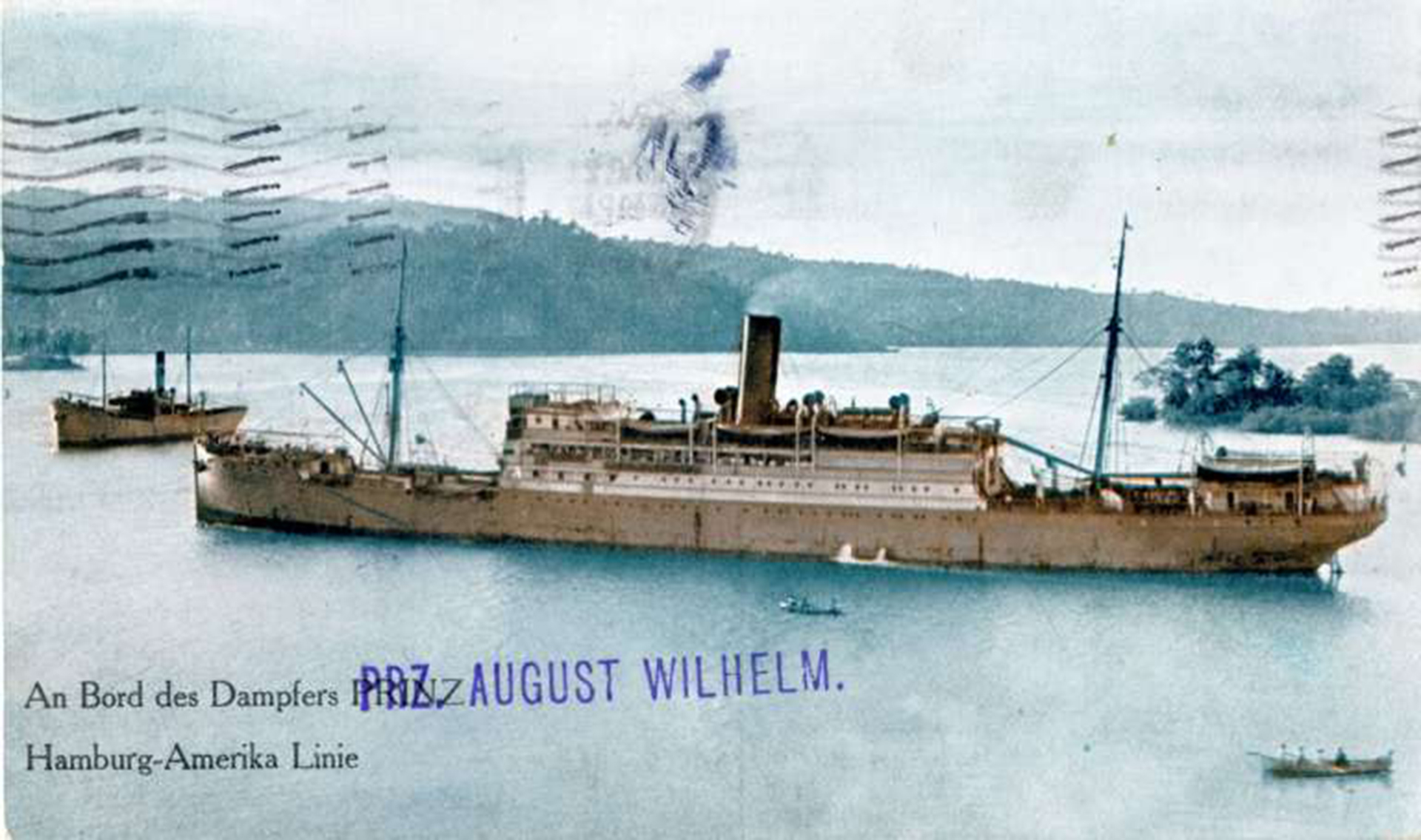 El vapor alemán Prinz August Wilhelm fue hundido en Puerto Colombia por su misma tripulación en 1918, para evitar caer en manos enemigas durante la I Guerra Mundial.