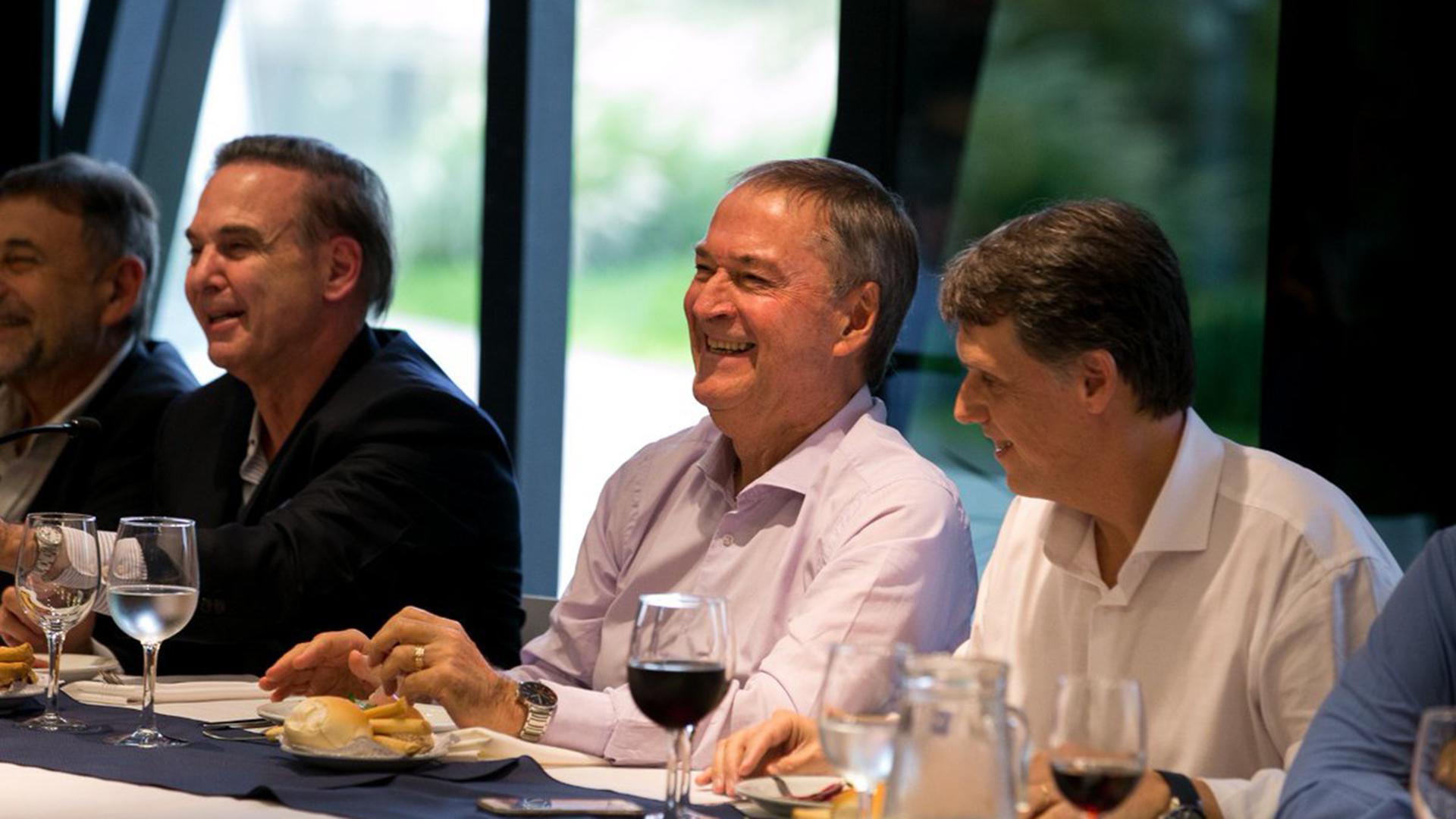 Miguel Pichetto,, Juan Schiaretti y Pablo Kosiner