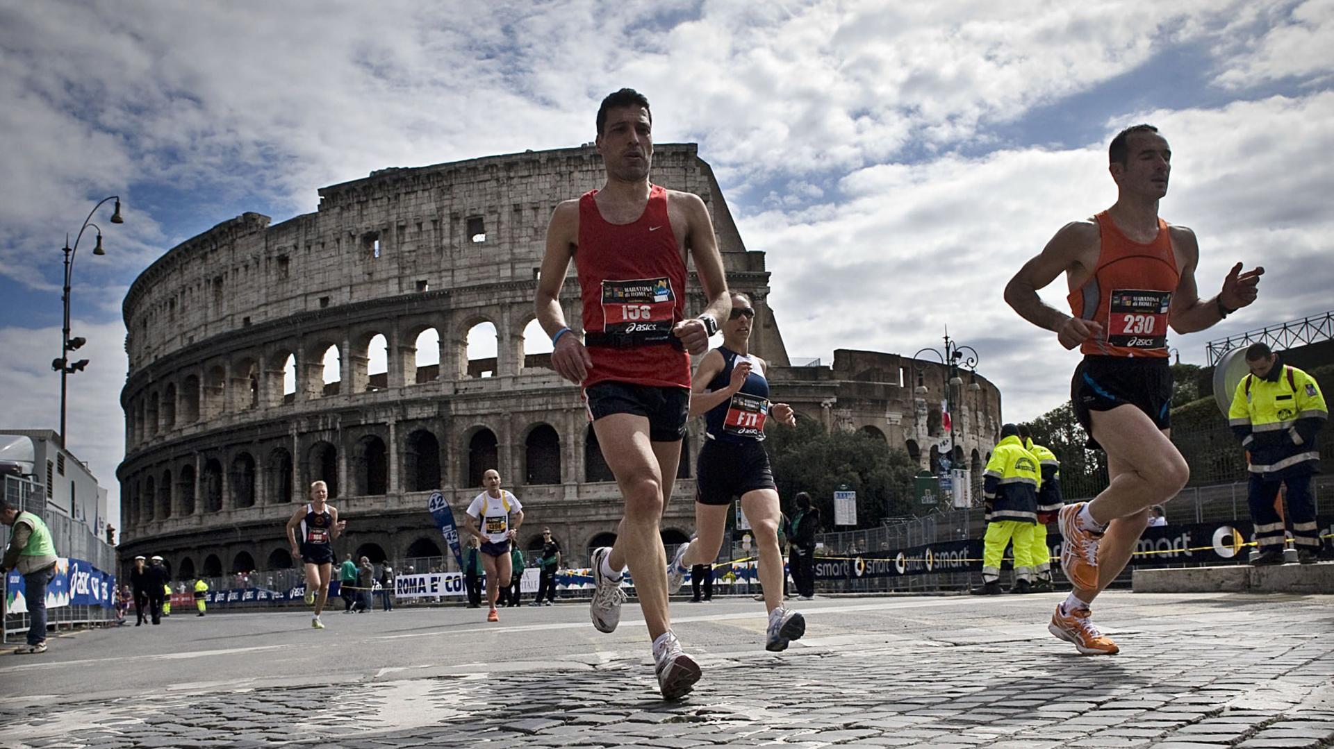 Desde 1982 en la capital italiana se desarrolla, entre marzo y abril, la prueba de 42.195 metros