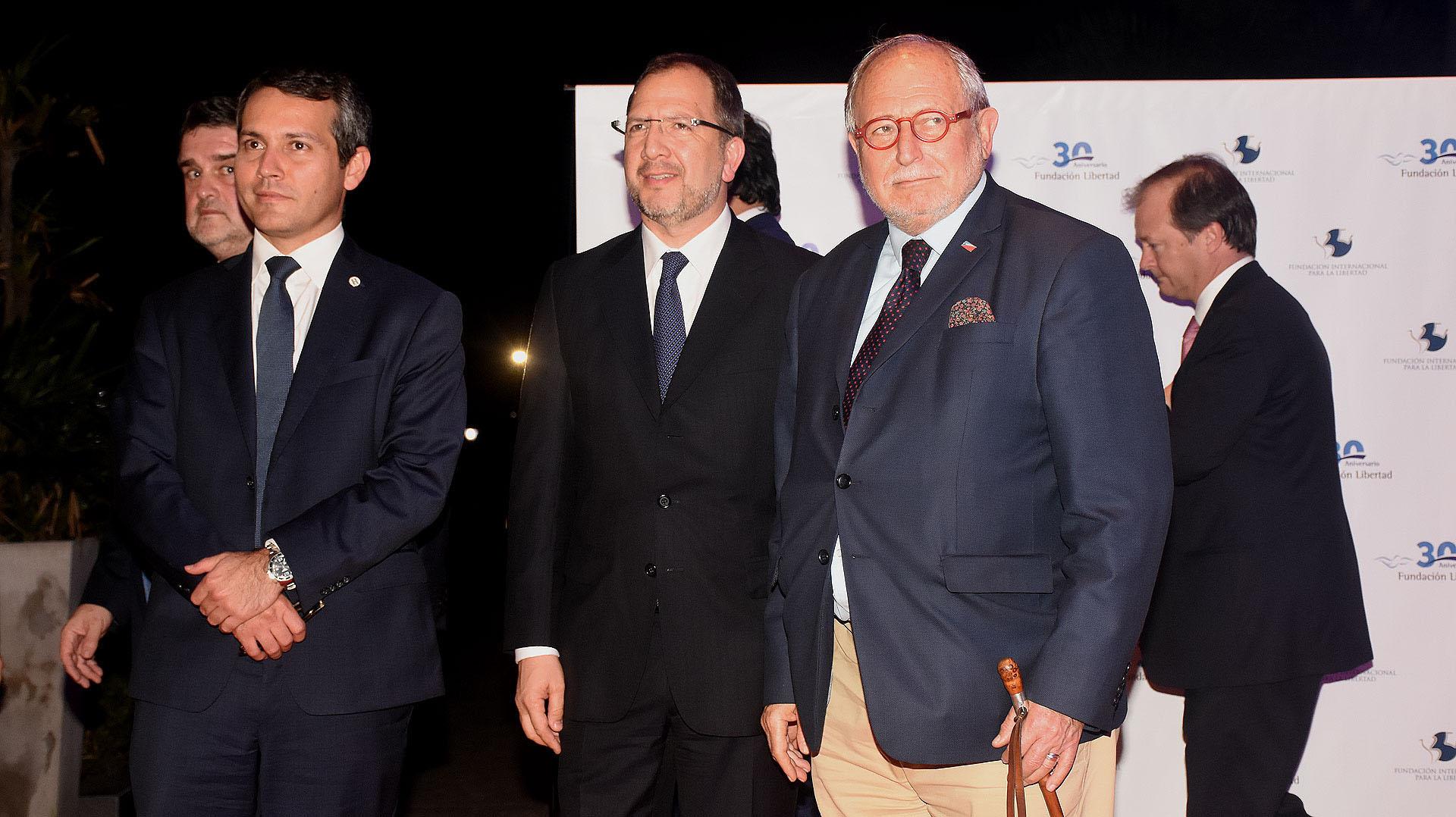 Fabian Perechodnik y el embajador argentino en China, Diego Guelar