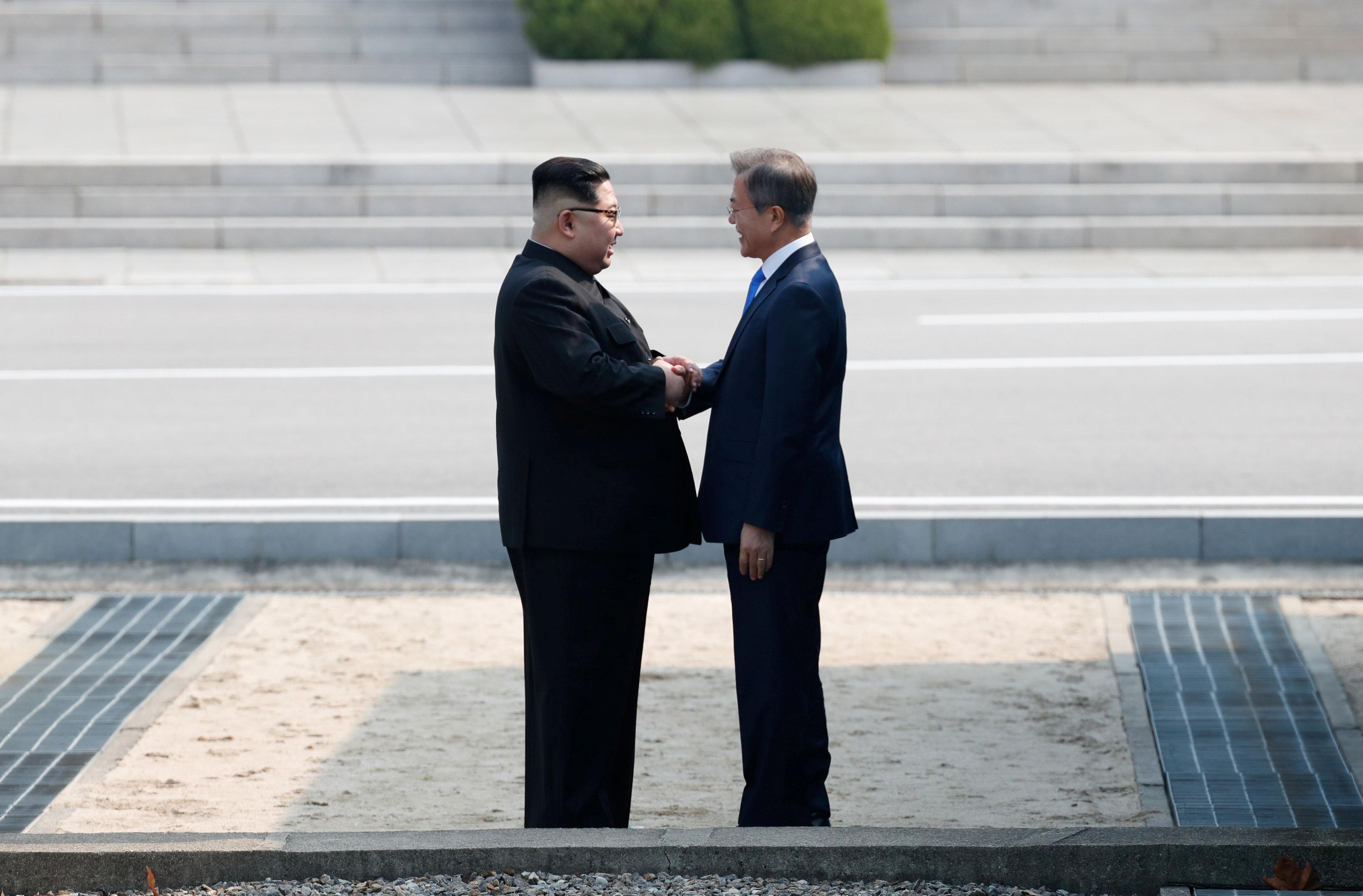 (Korea Summit Press Pool/Pool via Reuters)