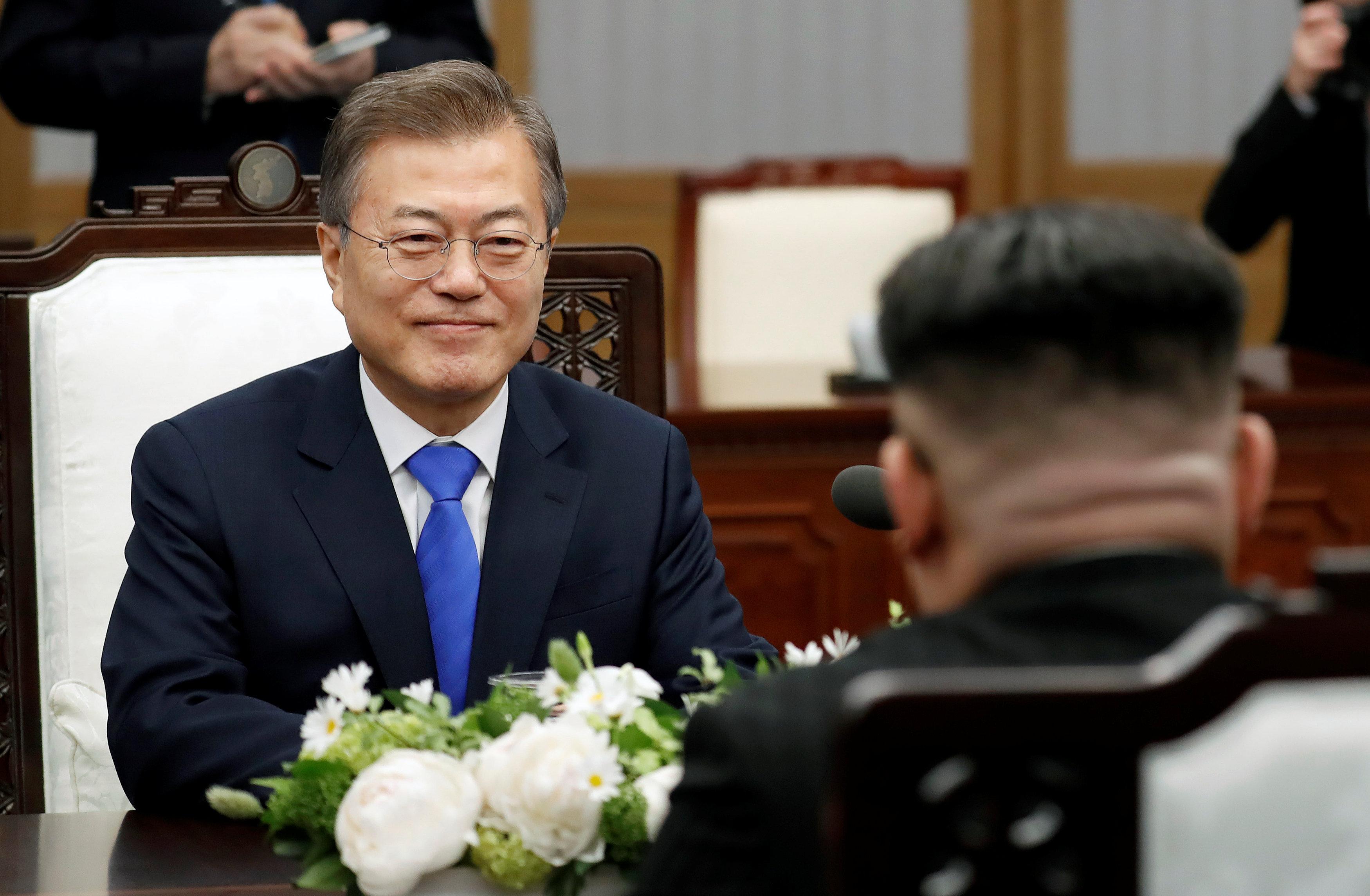 Los dos líderes, cara a cara. Korea Summit Press Pool/Pool via Reuters