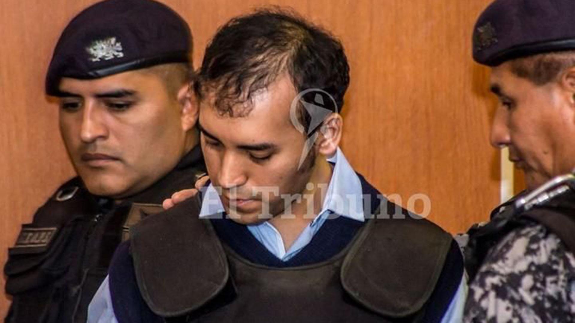 Rodrigo Gaspar Cinco ante el Tribunal (Gentileza El Tribuno)