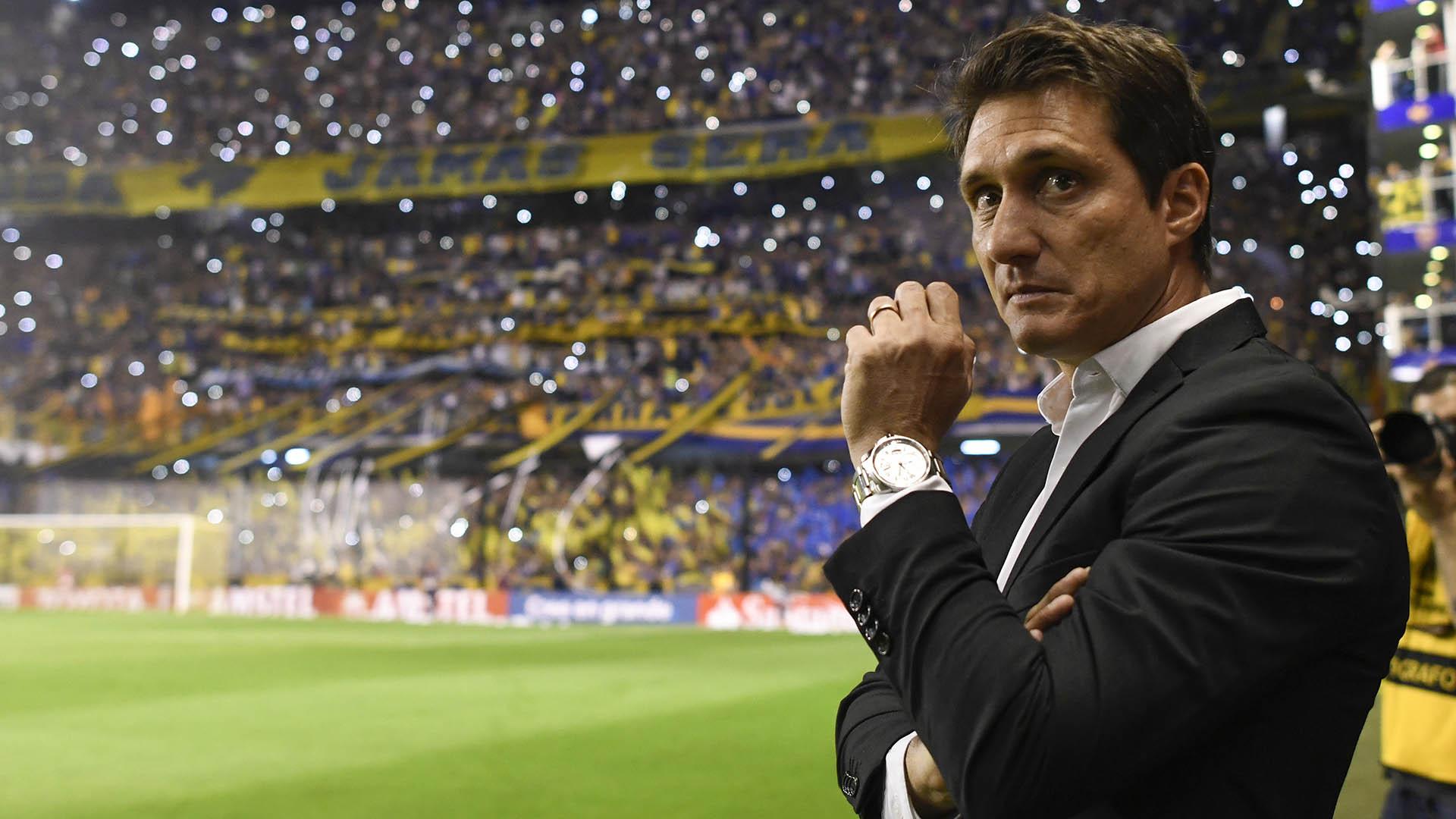Guillermo Barros Schelotto, entrenador del Boca bicampeón del fútbol argentino (Foto: AFP)