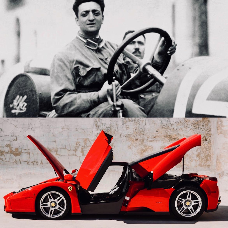 Ferrari creó su compañía una vez finalizada la Segunda Guerra Mundial, a los 49 años