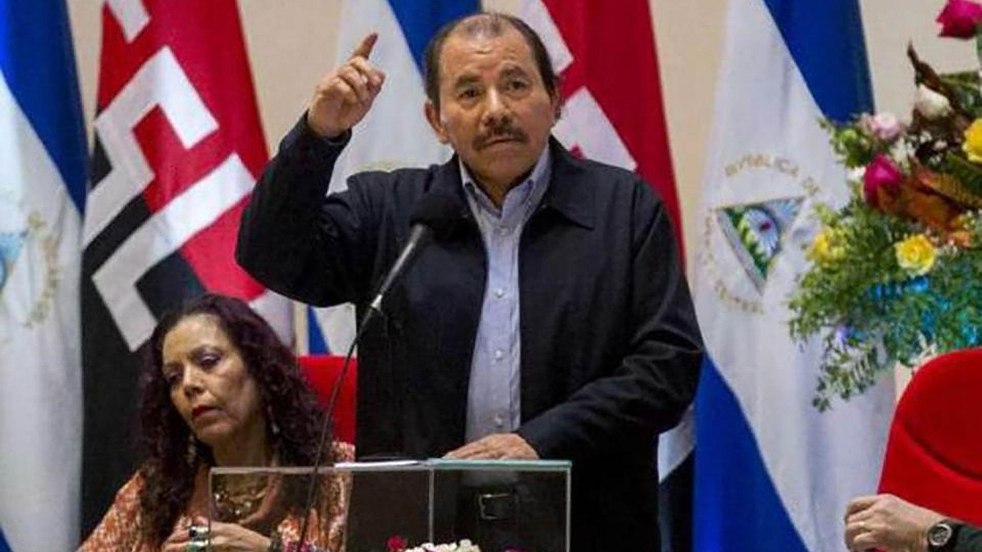 El presidente de Nicaragua, Daniel Ortega, y la vicepresidenta Rosario Murillo