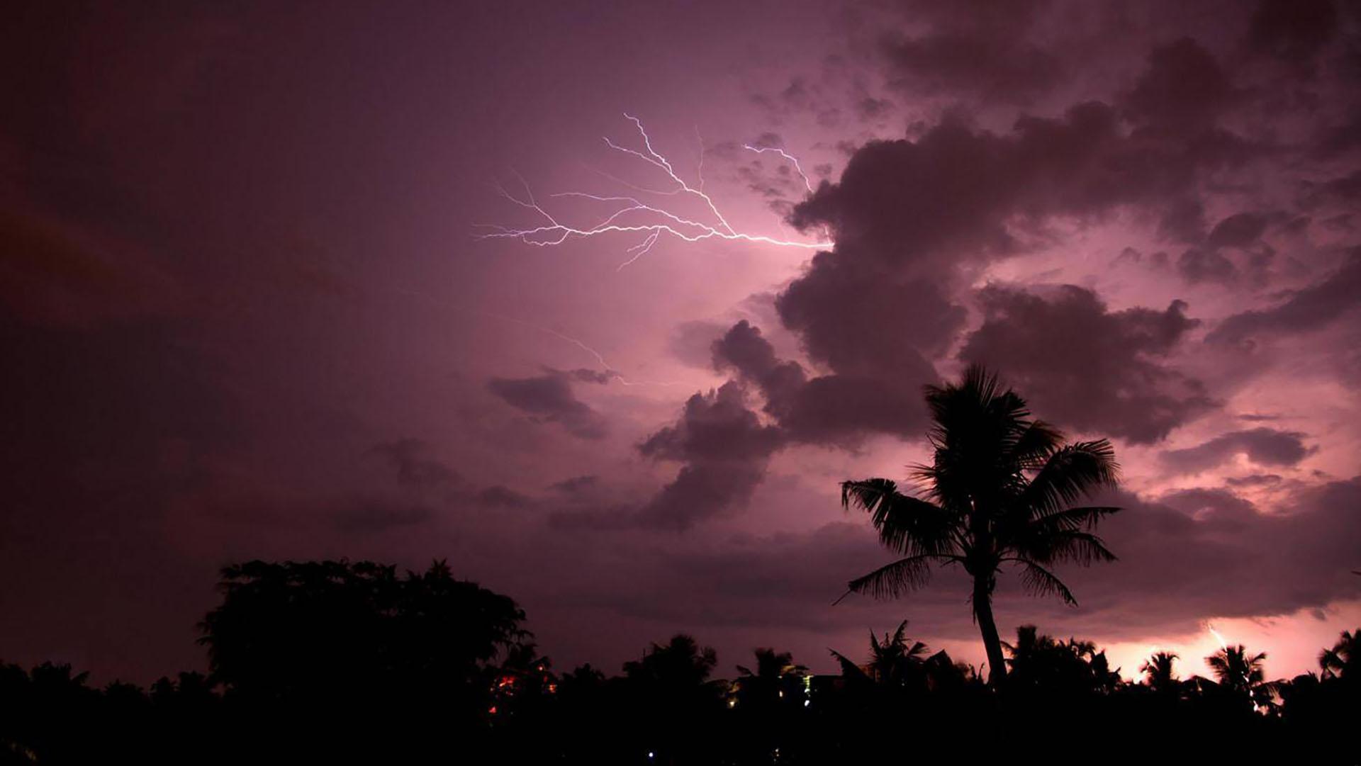 Relámpago en la India (Alamy Stock Photo)