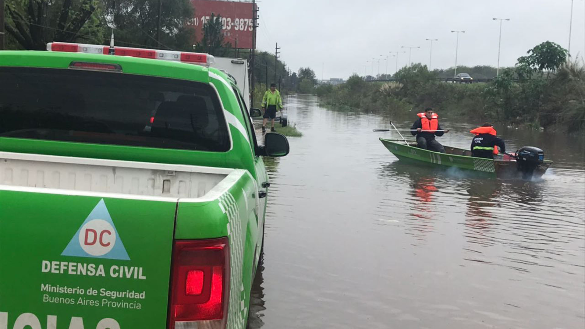 En Merlo el temporal tuvo consecuencias en casi todo el municipio