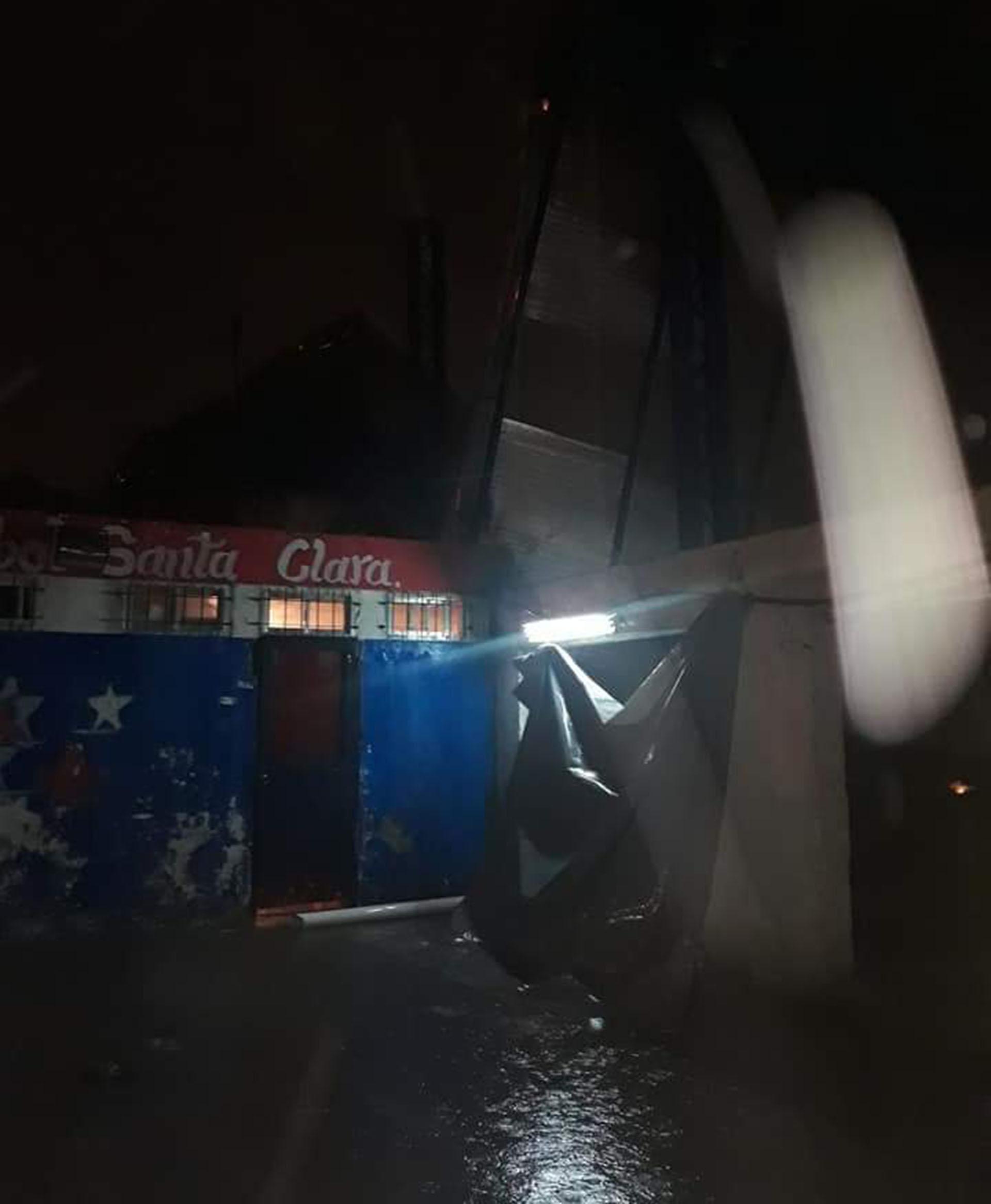 Los destrozos en santa Clara (Foto: @Leeodamian)