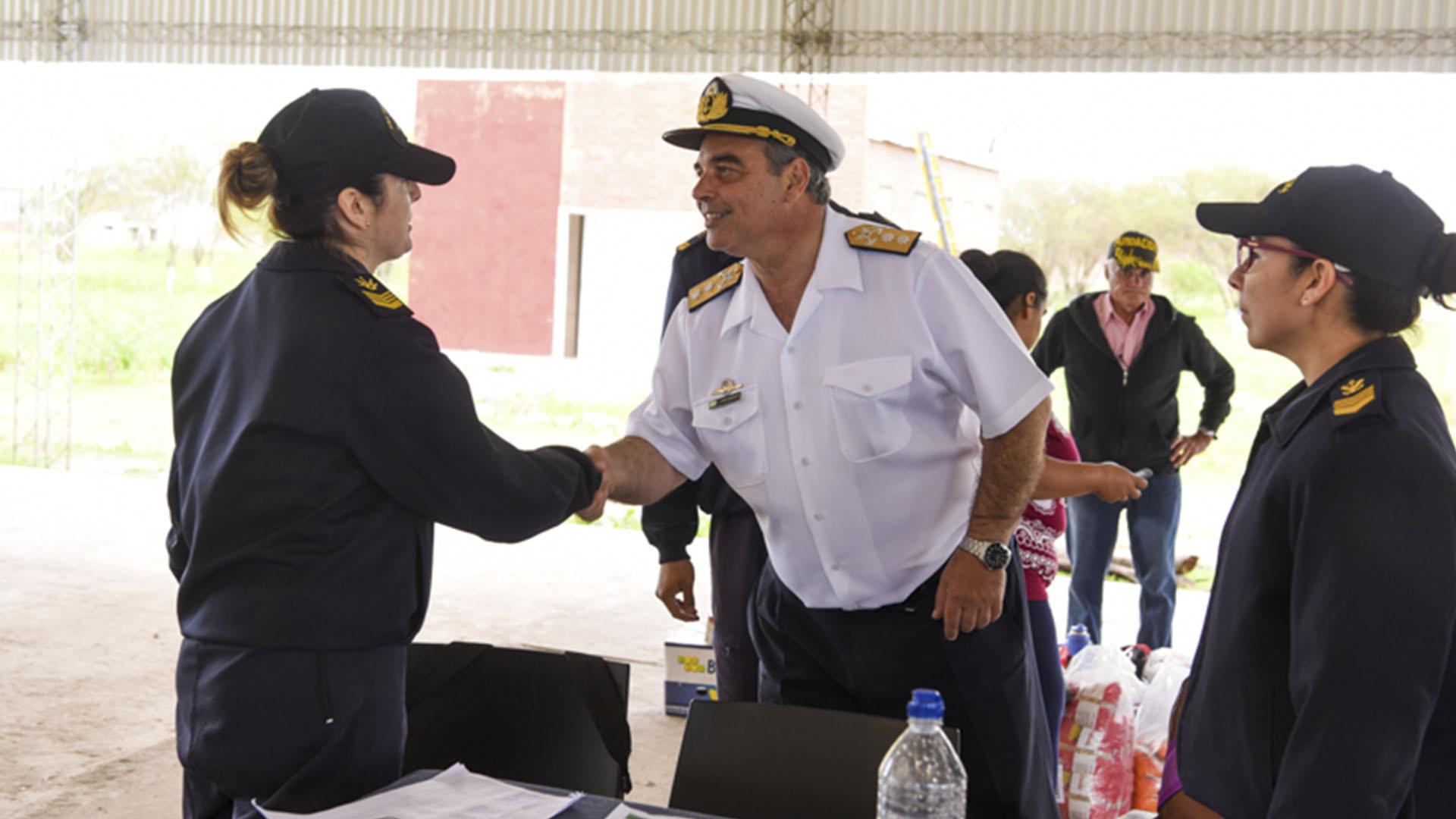 El sumariado contraalmirante López Mazzeo.