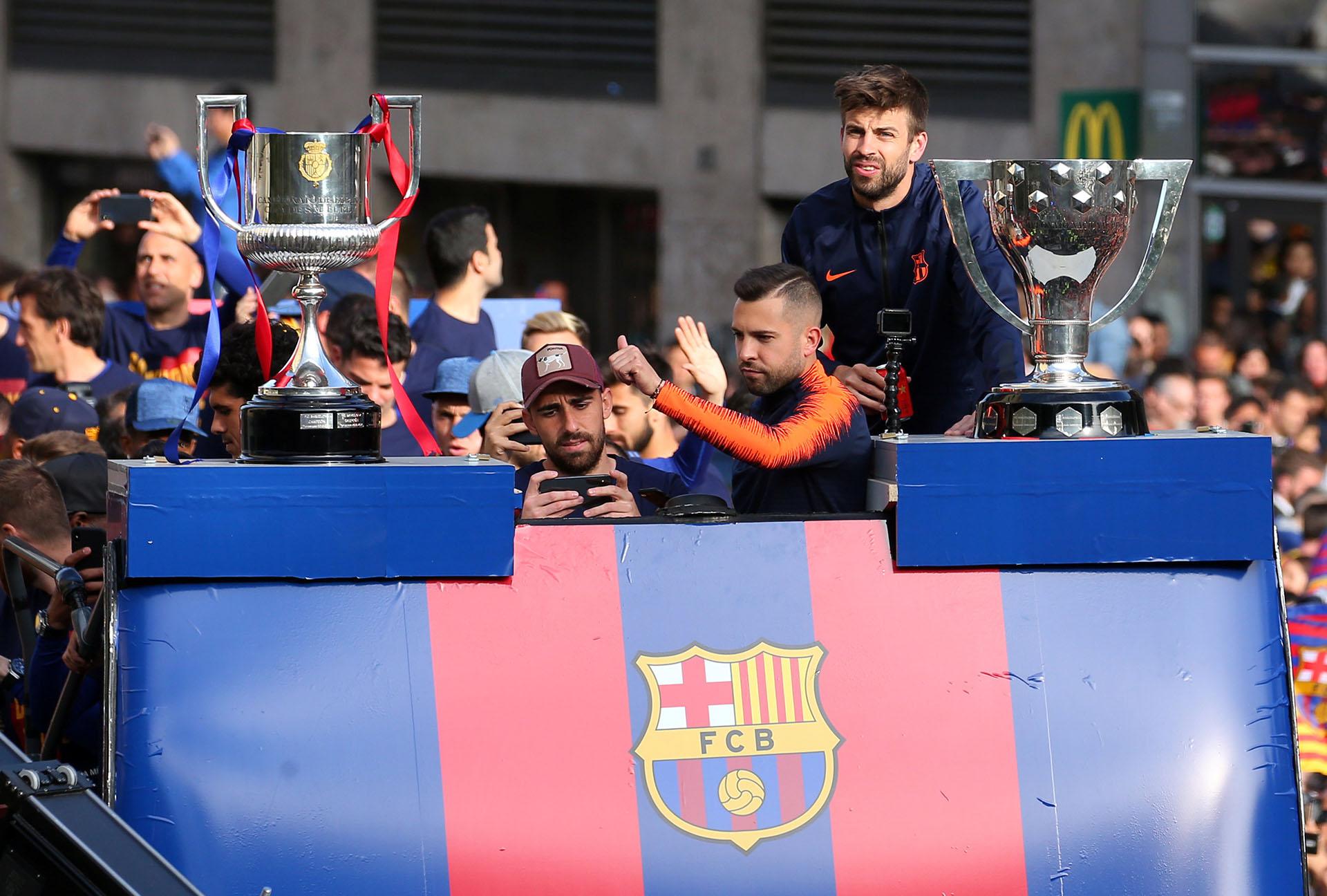 La Copa del Rey y el trofeo de La Liga