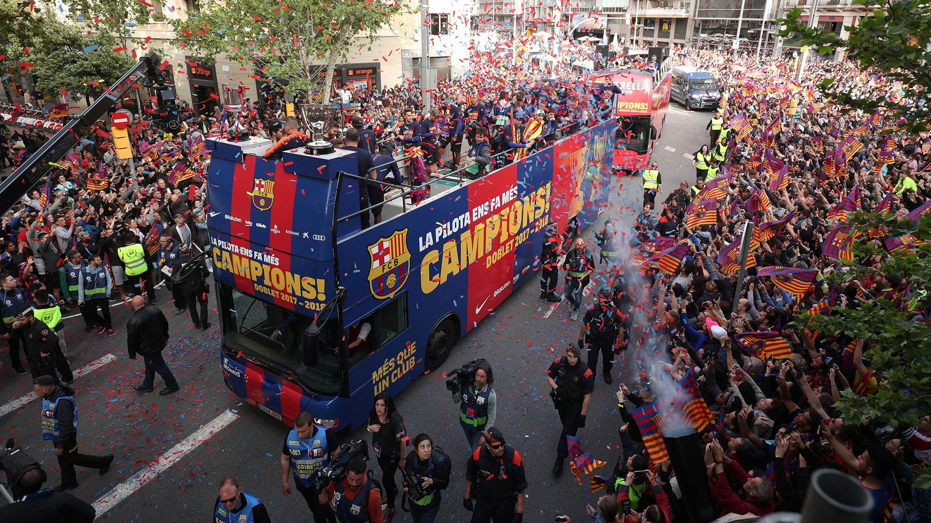 Un millar de personas invadió las calles de Cataluña este lunes
