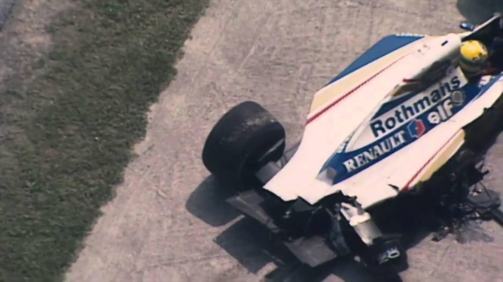 Senna se accidentó en la curva Tamburello del circuito de Imola cuando lideraba el Gran Premio de San Marino