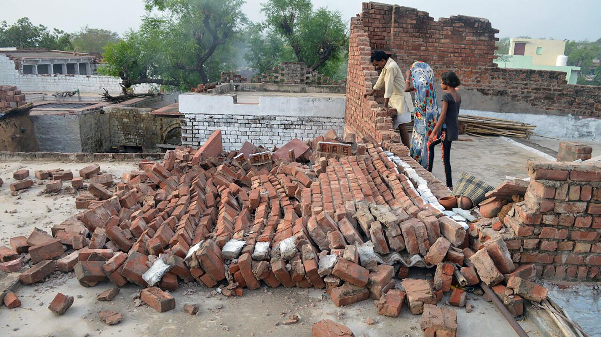 Una vivienda destruida en Agra, Uttar Pradesh (AFP)