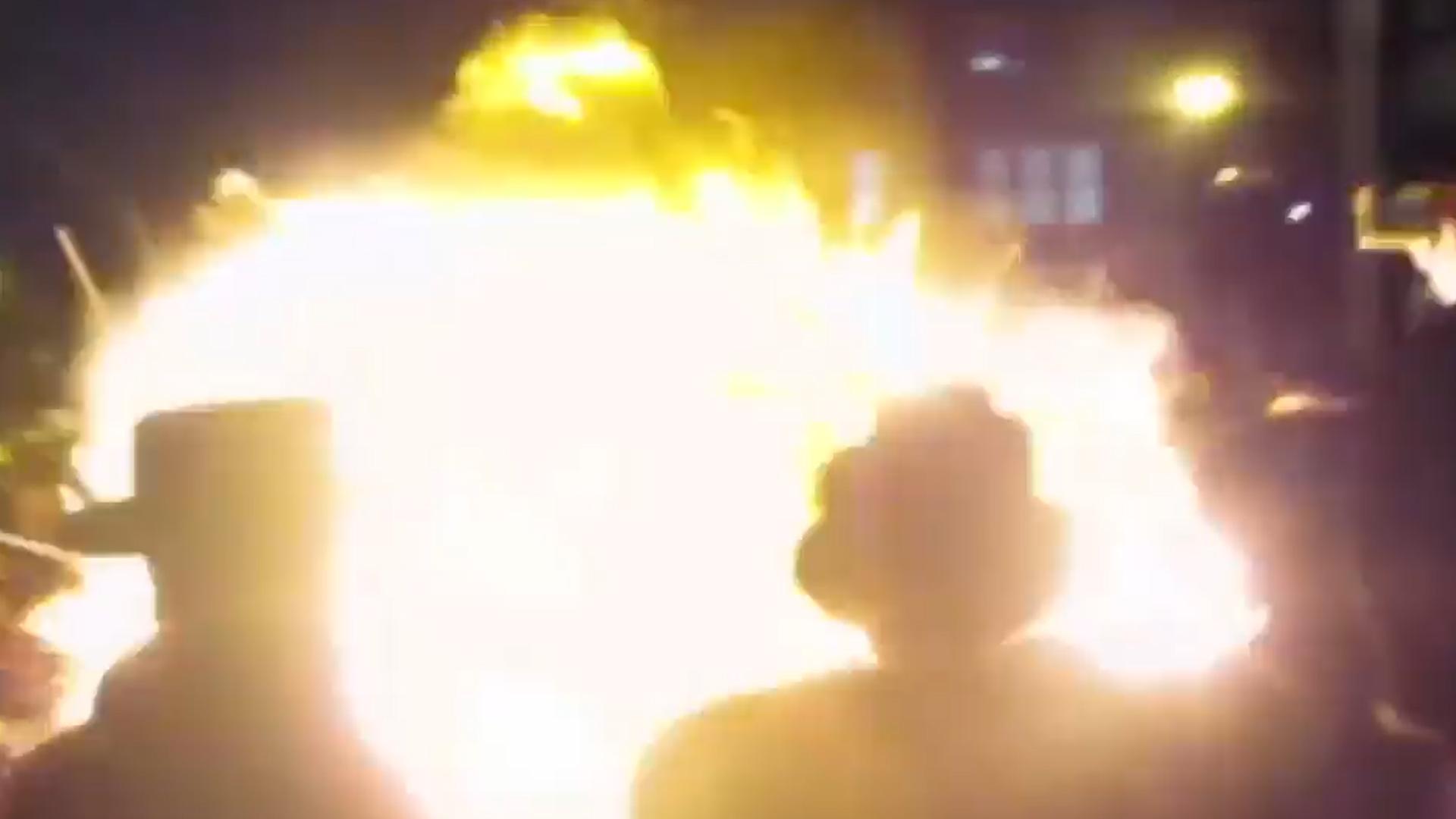 La bola de fuego dejó varios heridos