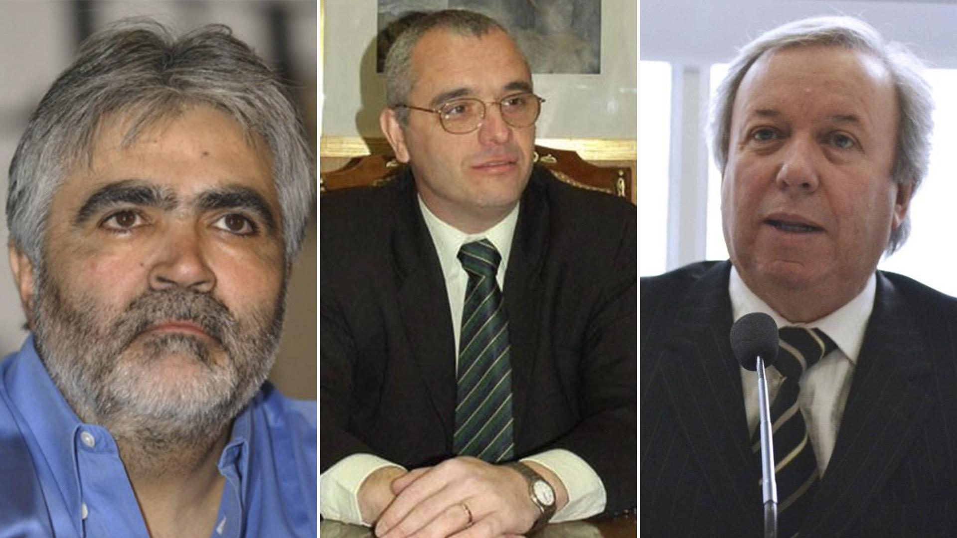 Sergio Acevedo, Carlos Sancho y Daniel Peralta