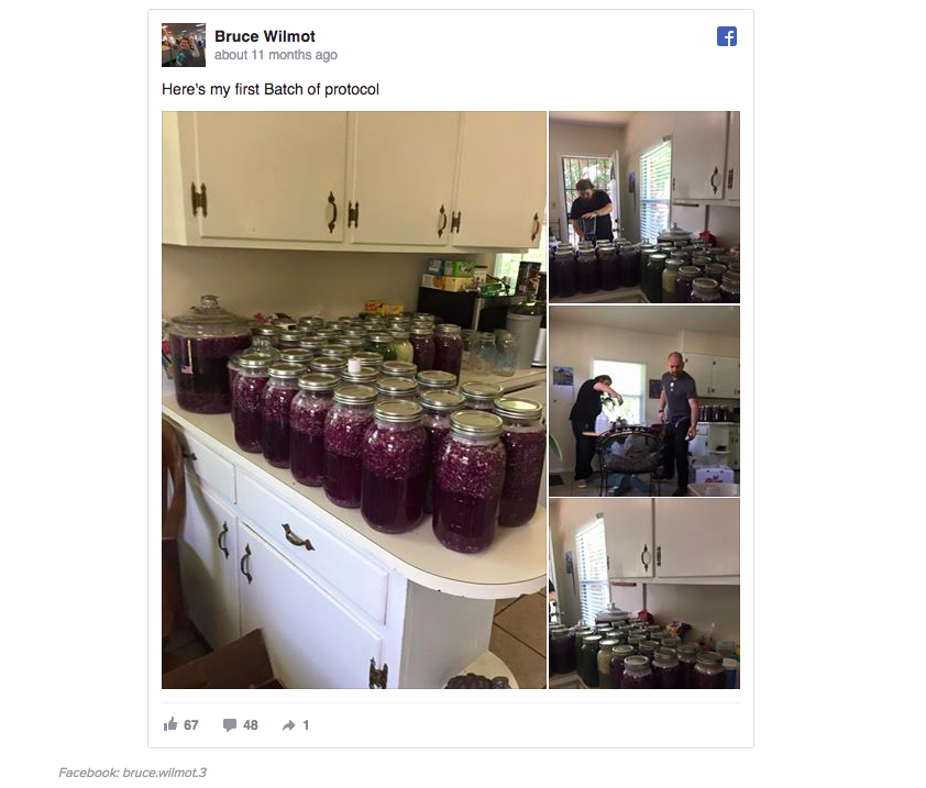 Antes de morir,Bruce Wilmot registró en Facebook sucumplimiento del protocolo de la col.