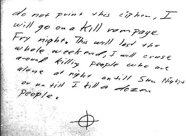 Las cartas, tarjetas y códigos del asesino del Zodiaco inquietaron a policías y periodistas.