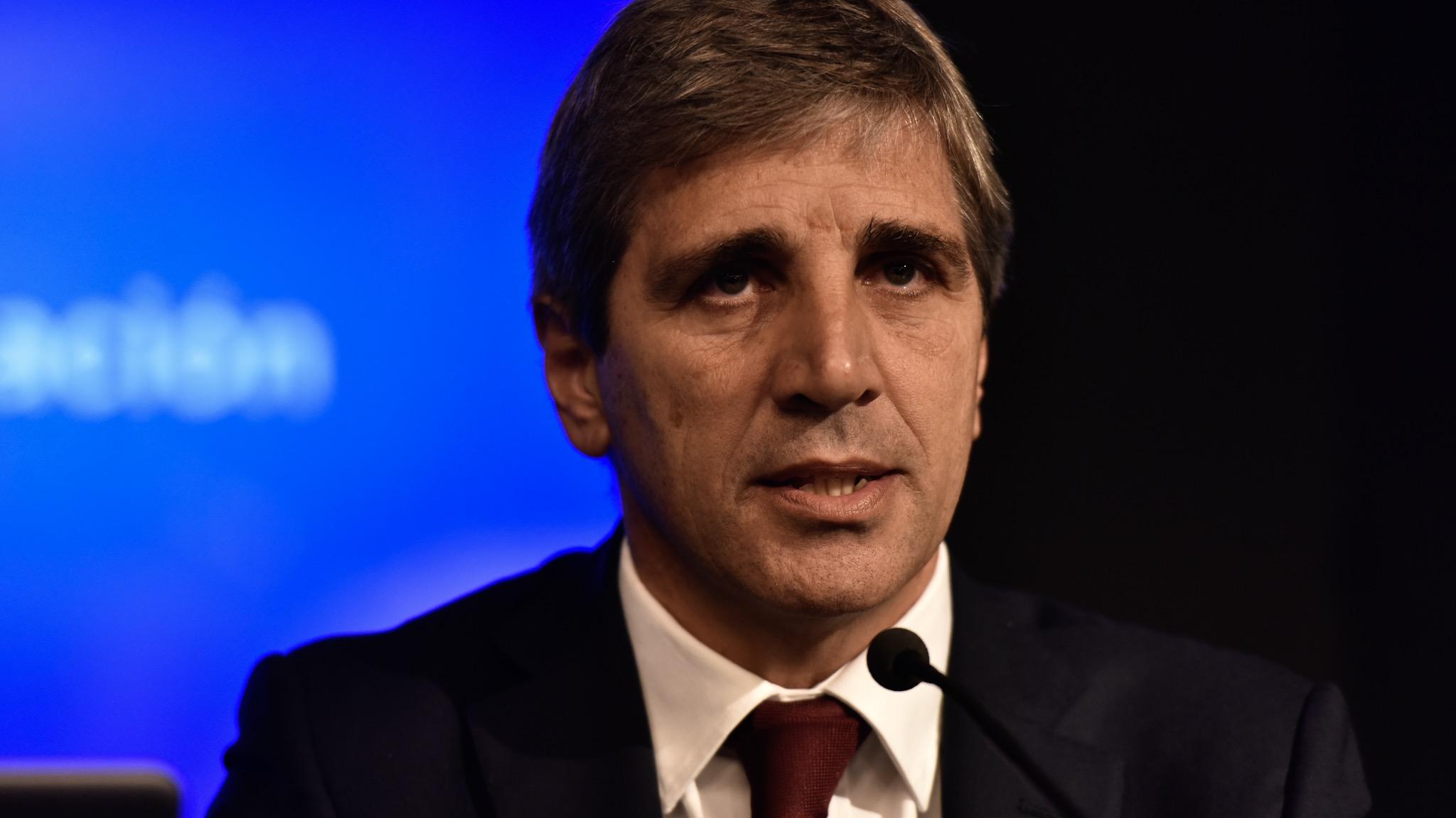 El ministro de Finanzas, Luis Caputo (Adrián Escandar)
