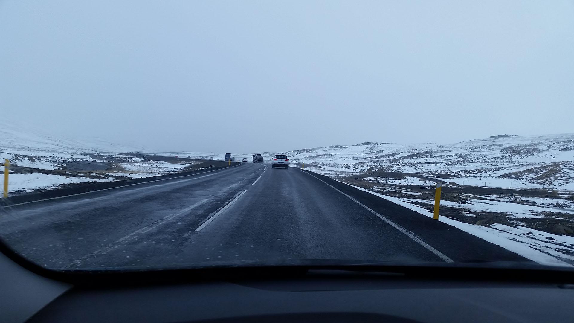 Ruta 1 entre Reykiavik y Akureyri