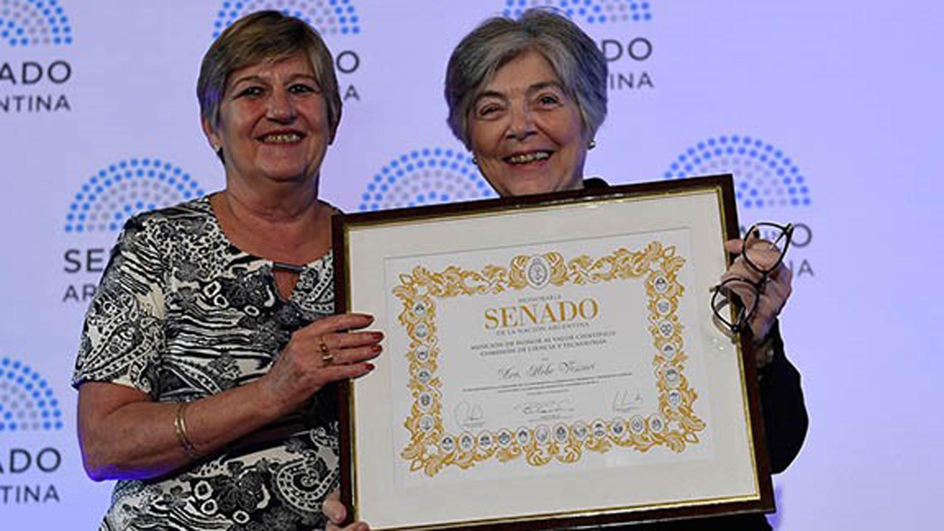 Vessuri fue reconocida en 2017 por el Senado de la Nación
