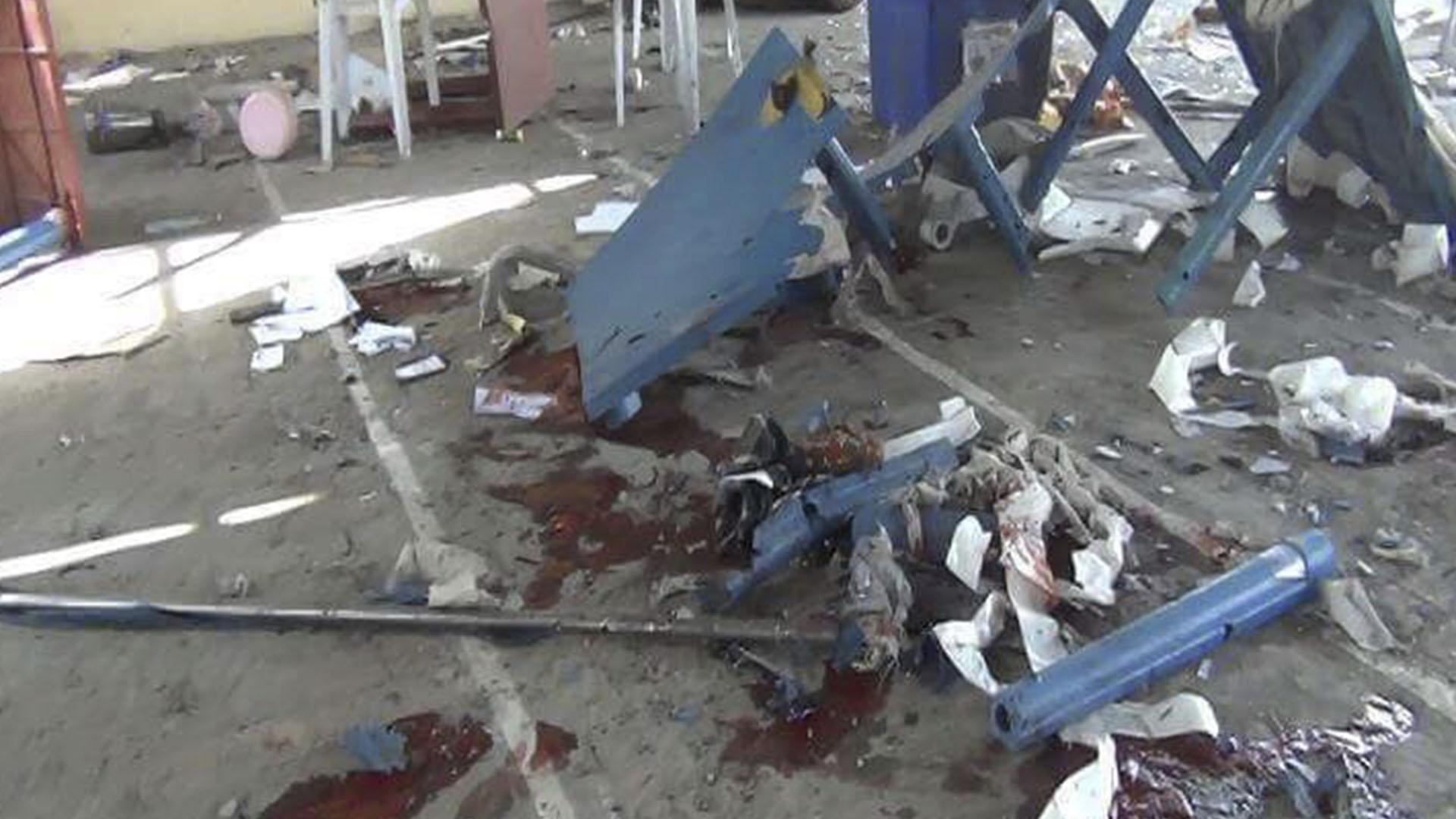 La explosión tuvo lugar sobre las 14:20, hora local (09:50 GMT), en la mezquita Yaqubi
