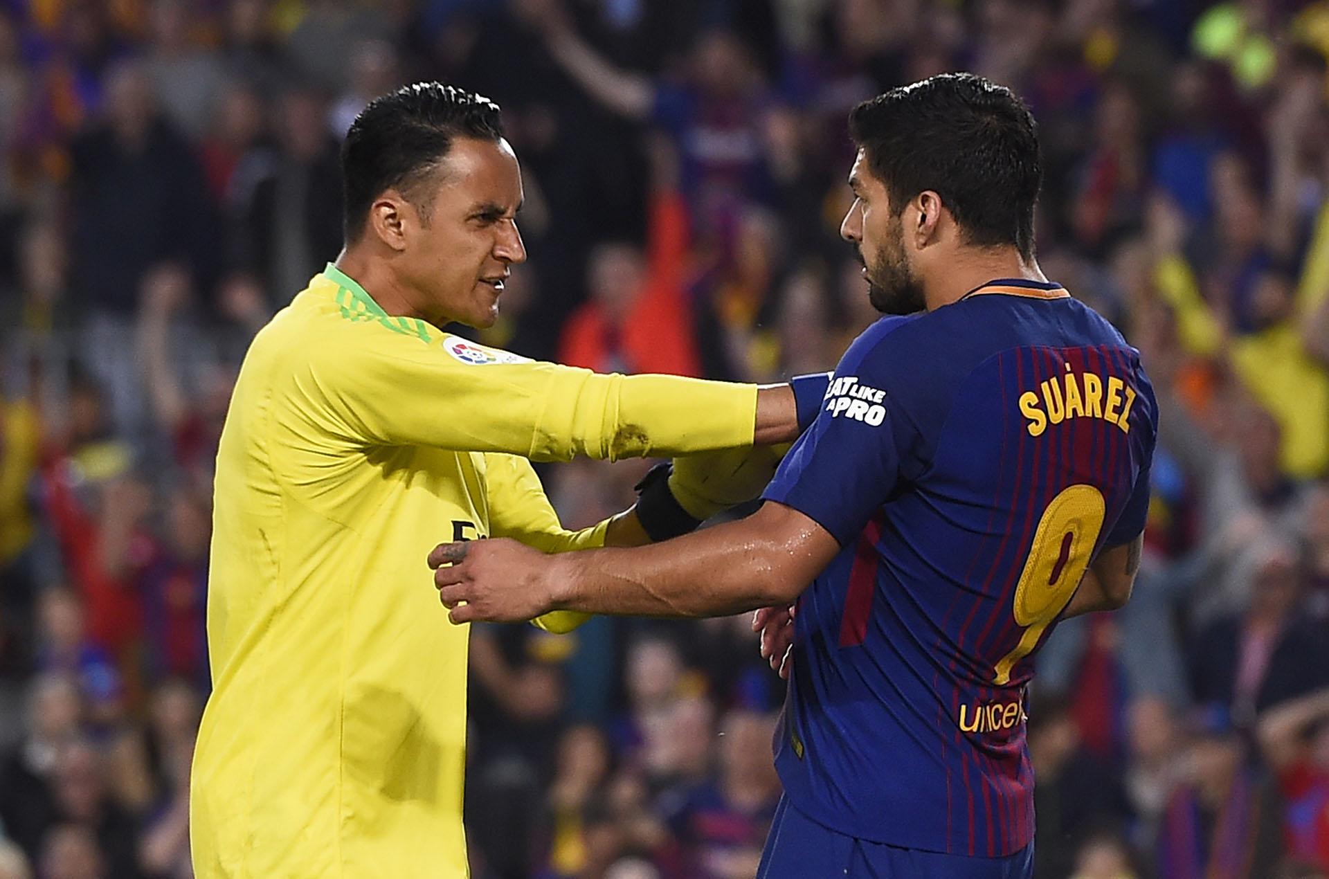 Navas discutió con Suárez (AFP)