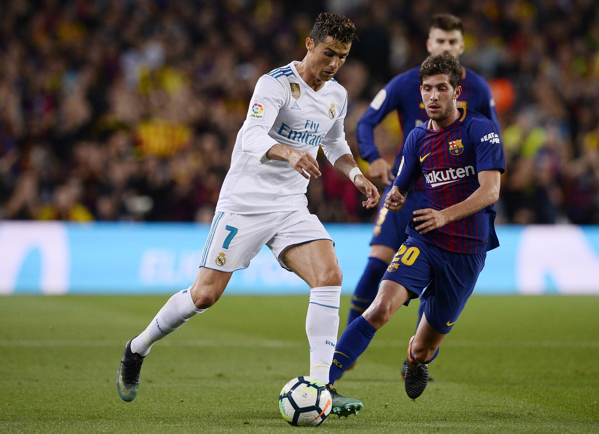 Cristiano Ronaldo salió en el entretiempo (AFP)