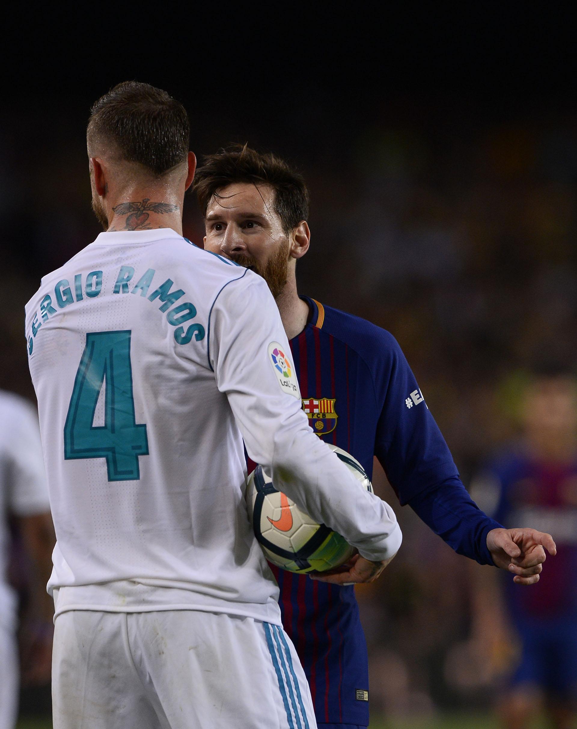 """Messi """"vengó"""" a Suárez y discutió con Ramos (AFP)"""