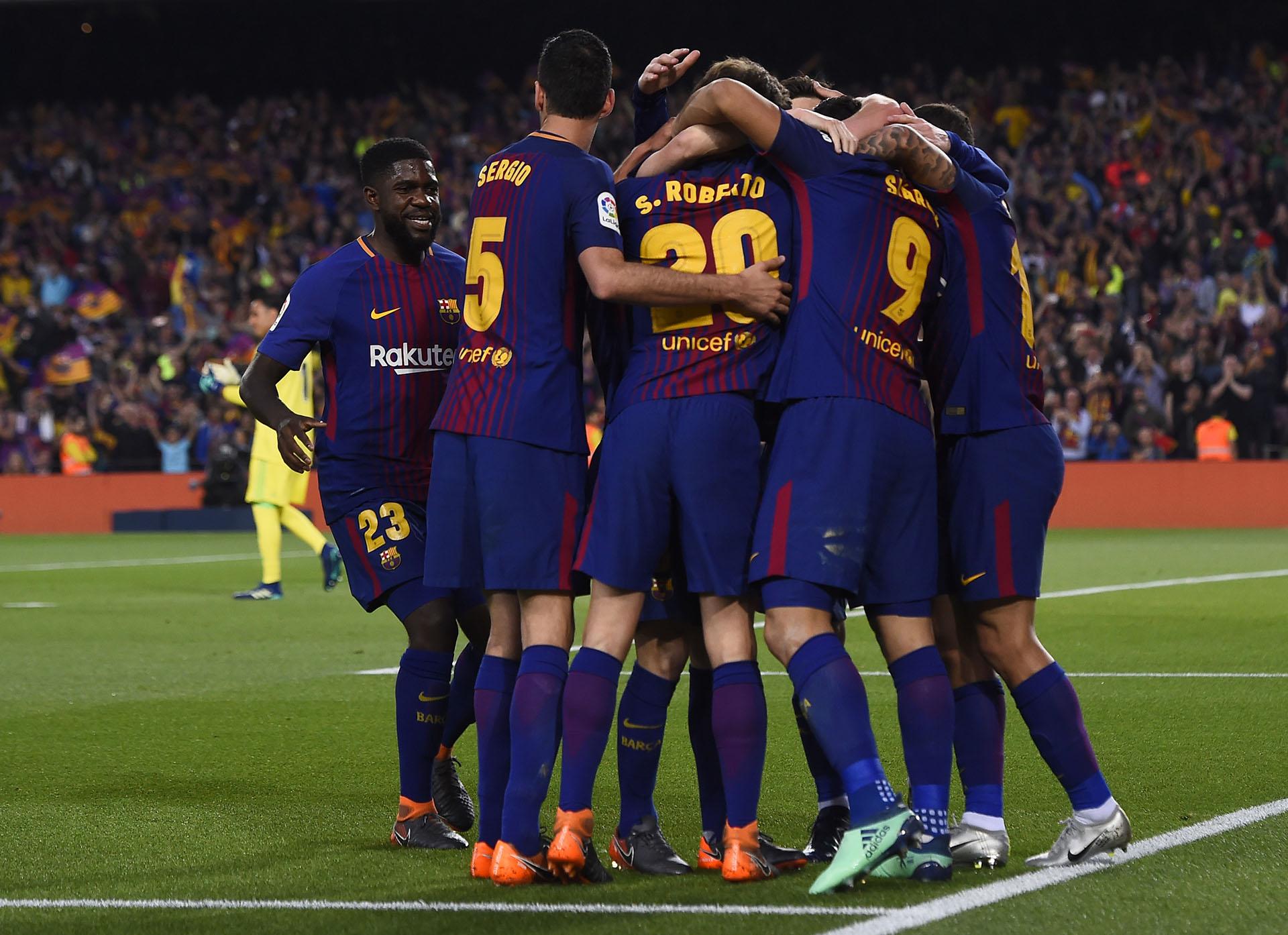 A pesar del empate, Barcelona festejó porque sostuvo el invicto (AFP)