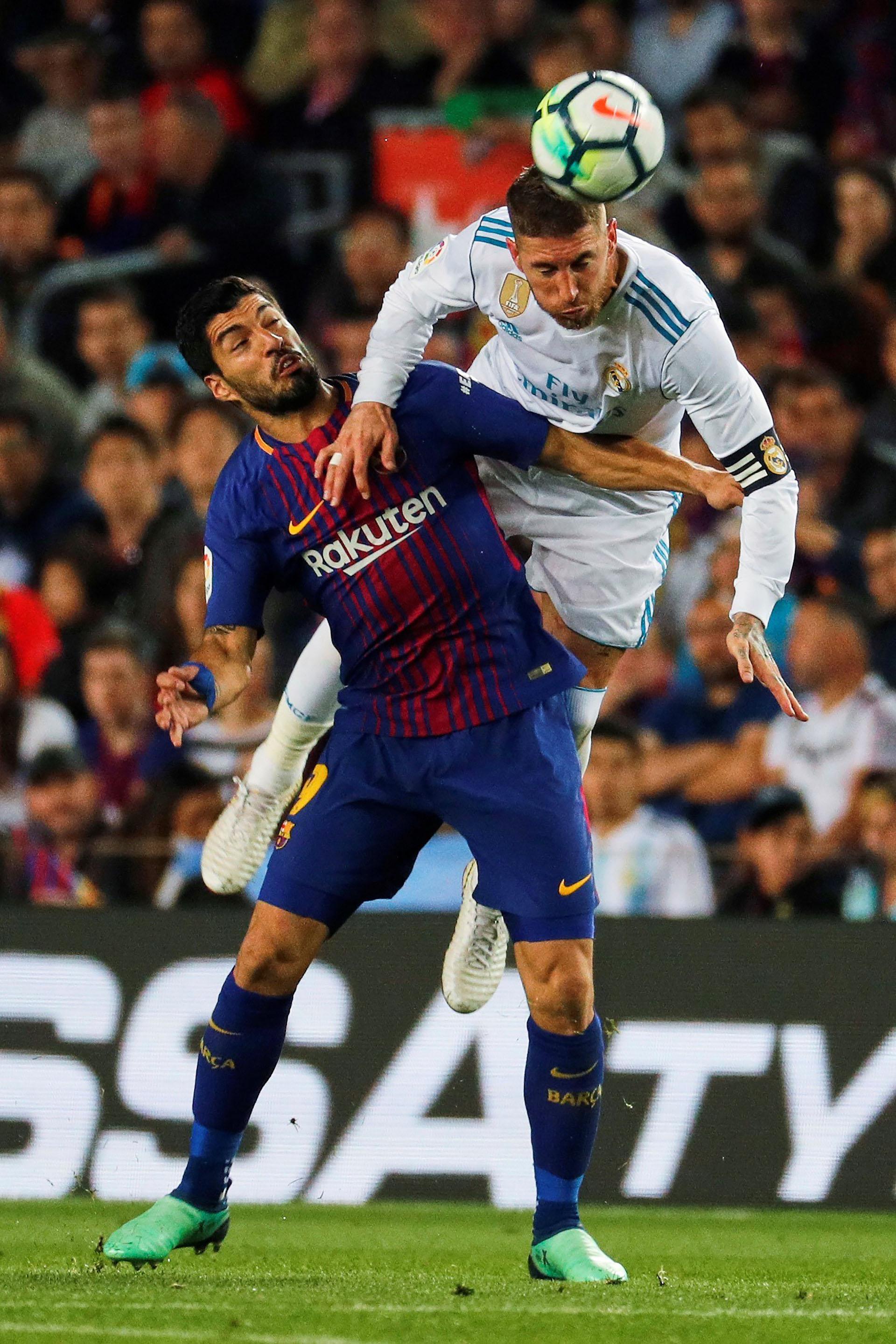 Suárez y Ramos, en otro cruce (EFE)