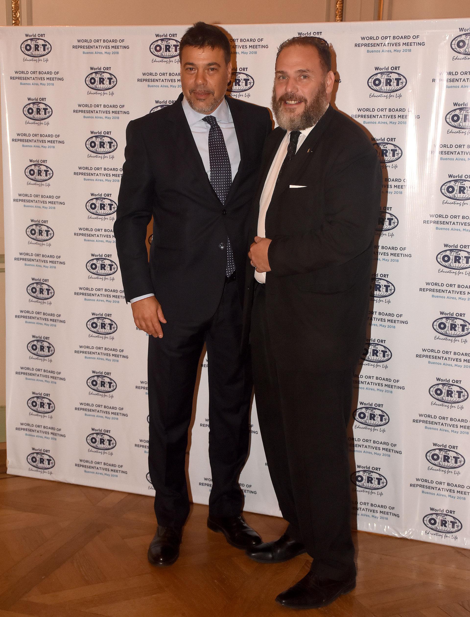 Darío Werthein y el diputado Marcelo Wechsler