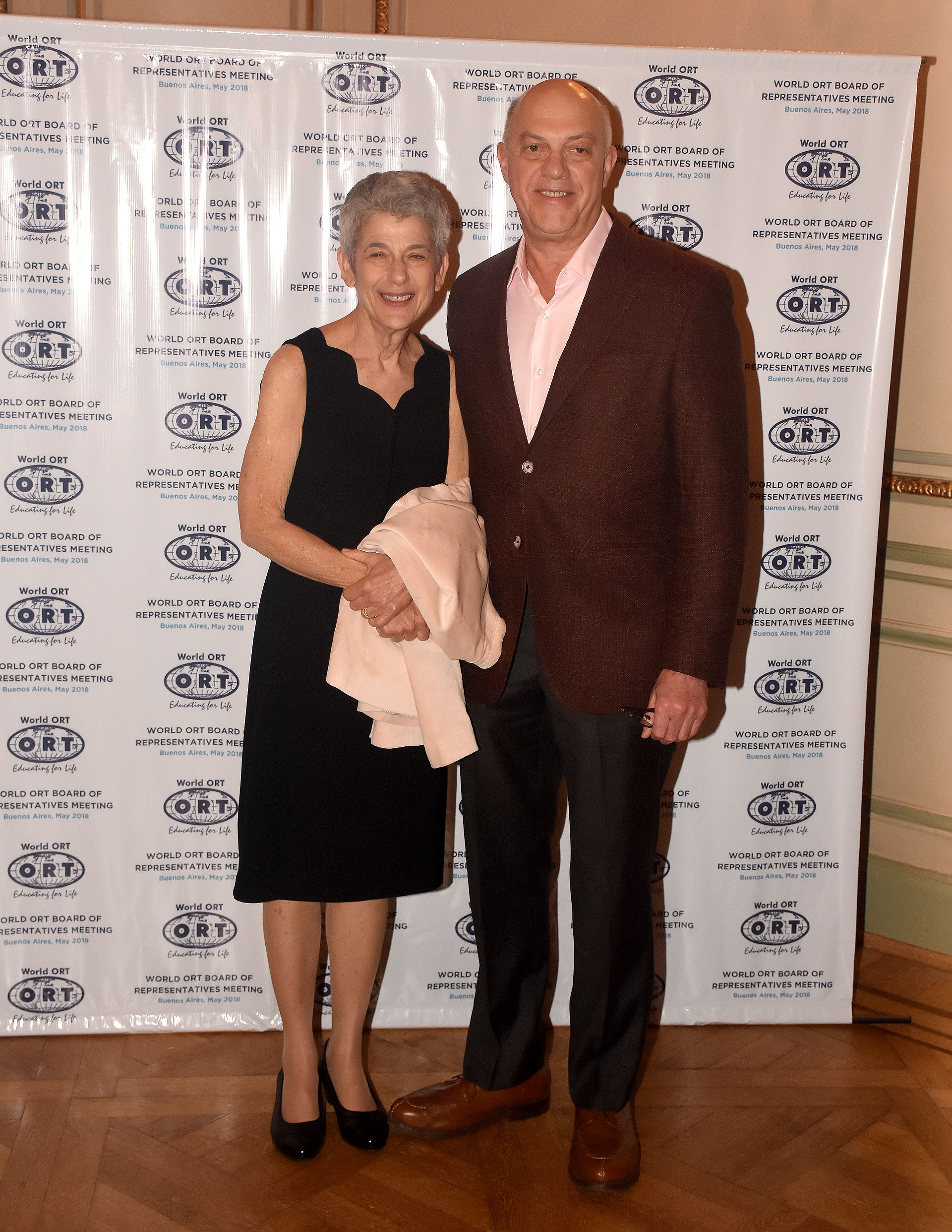 Bob y Sue Grey, del Board of Trustees de ORT Mundial