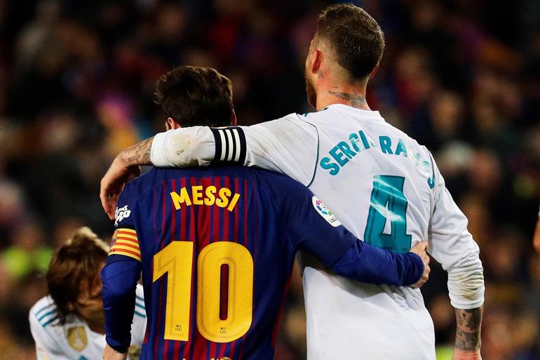 Messi y Ramos, se abrazaron al término del encuentro