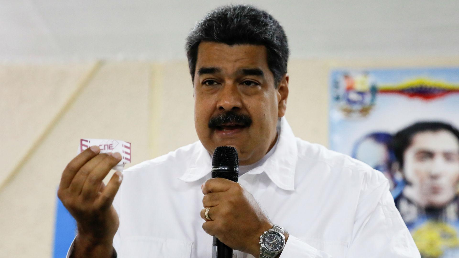 Nicolás Maduro durante el simulacro de voto realizado el pasado domingo (Reuters)