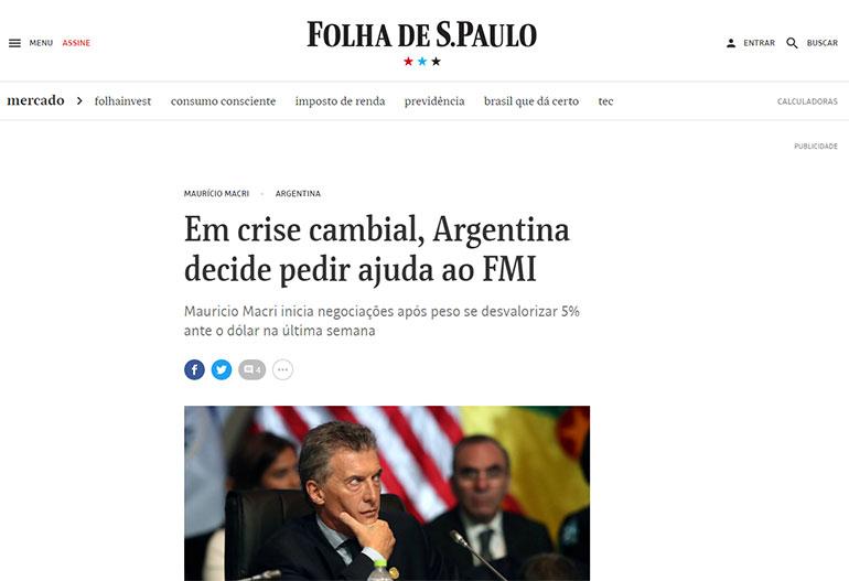 Folha de Brasil