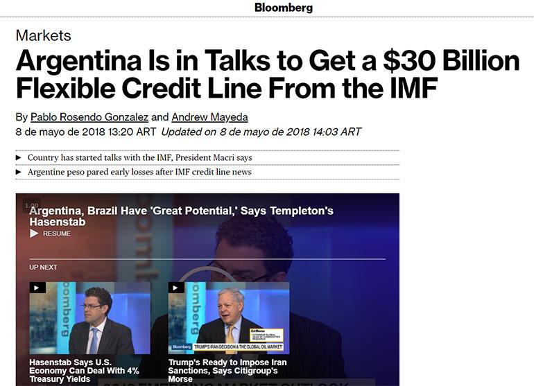 El medio estadounidense Bloomberg