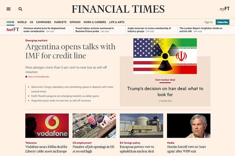 El periódico británico Financial Times