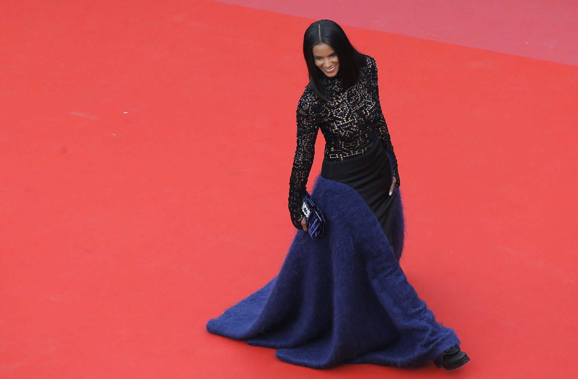 La cantante Shy'men la red carpet de la 71ª edición del Festival de Cannes
