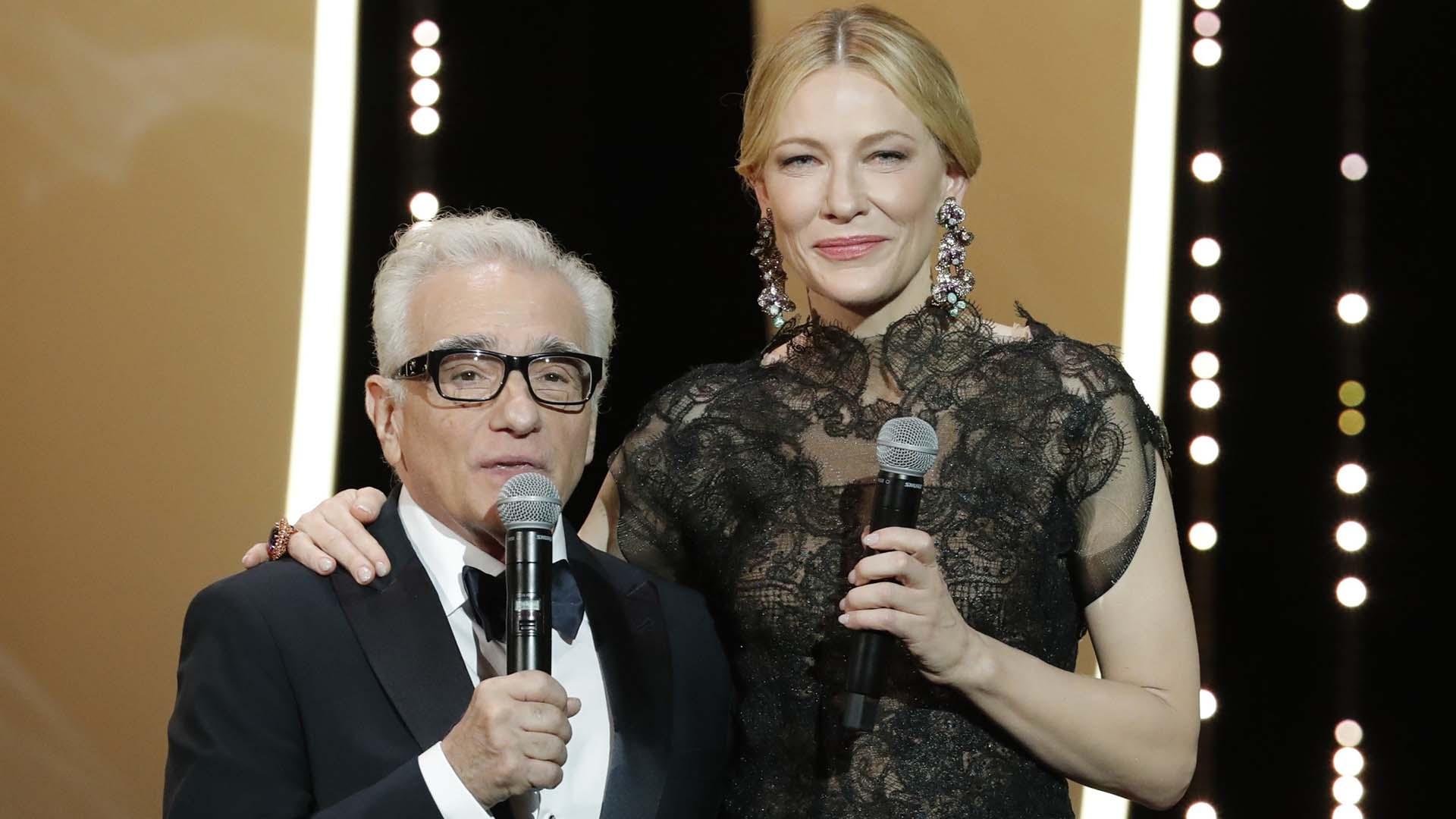 """Cate Blanchet y Martin Scorsese antes de la proyección de """"Todos lo saben"""""""
