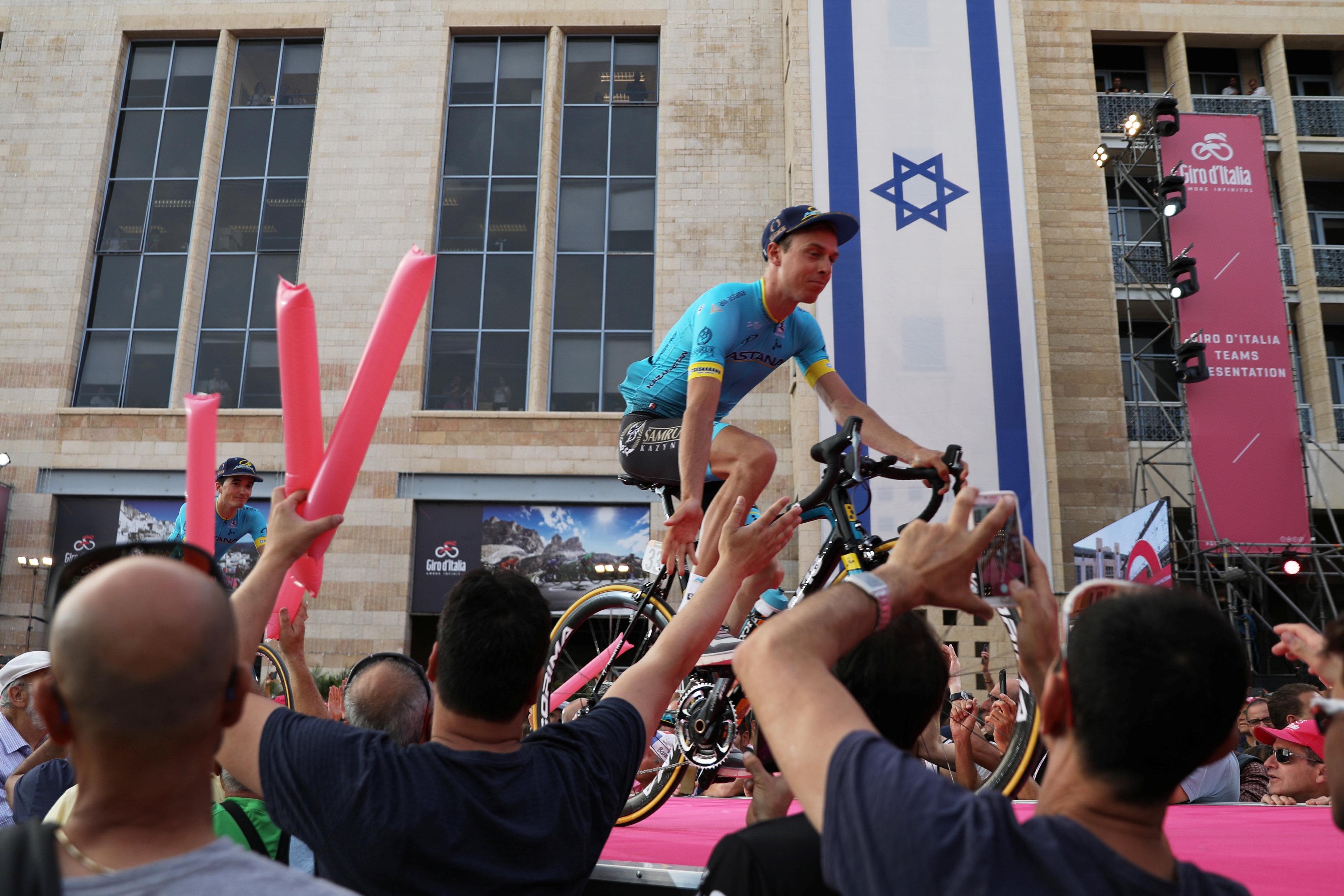 La presentación de los equipos en Jerusalén (REUTERS/Ammar Awad)