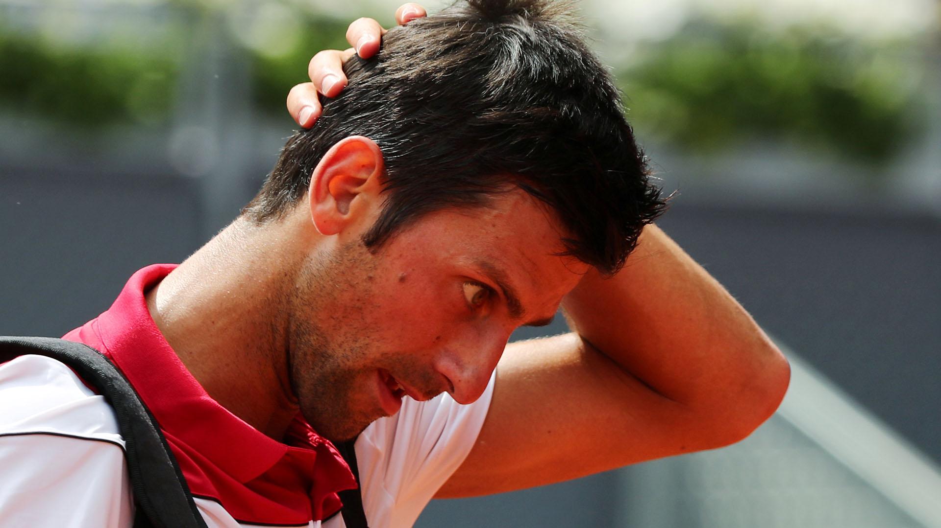 Novak Djokovicha sido eliminado por Kyle Edmund en segunda ronda del Masters 1000 de Madrid (Reuters)