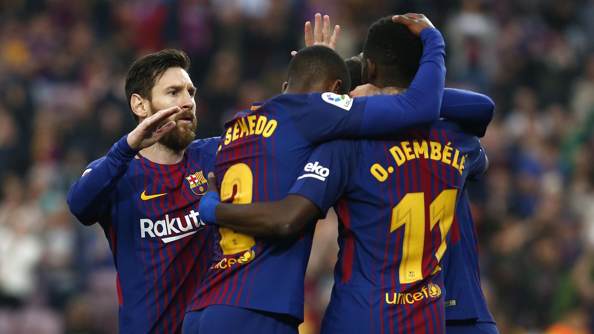 Messi y Dembéle fueron dos de las figuras del Barça ante el Villarreal (AFP)